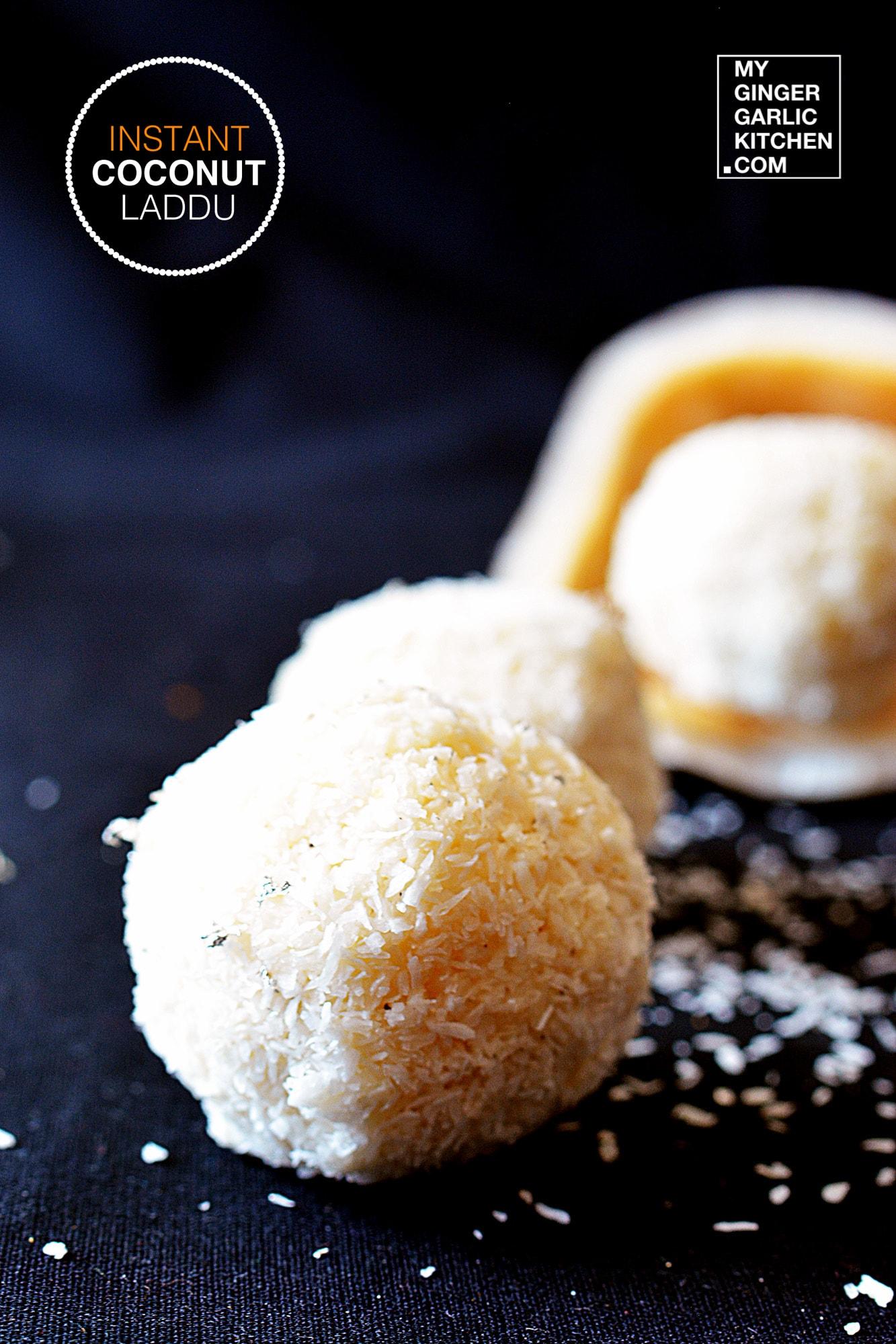 Image - recipe instant coconut laddu anupama paliwal my ginger garlic kitchen 6