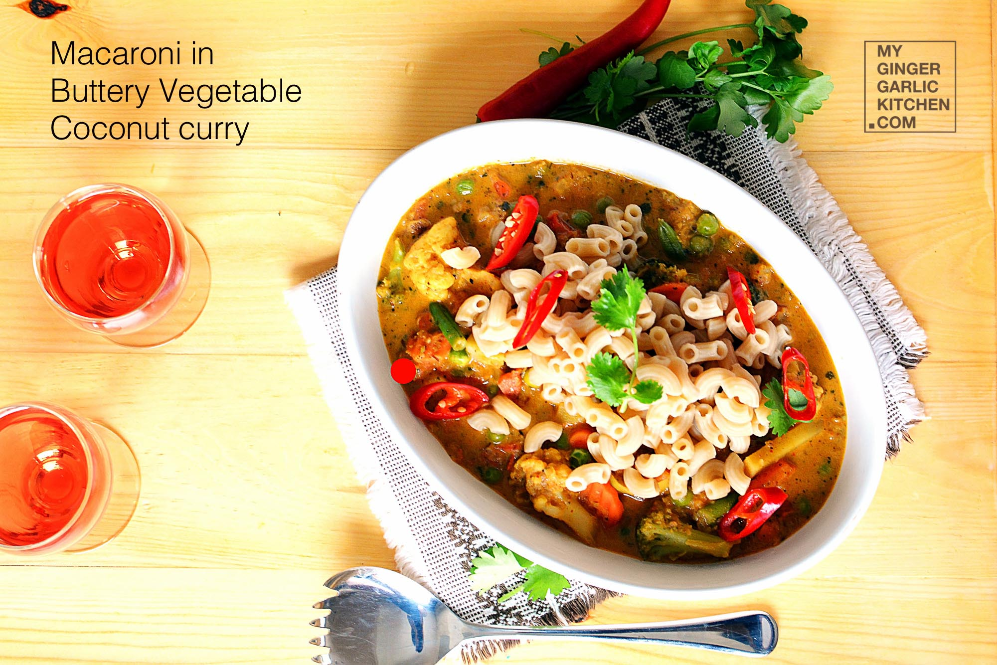 Image - recipe macaroni in buttery coconut vegetable curry anupama paliwal my ginger garlic kitchen 11