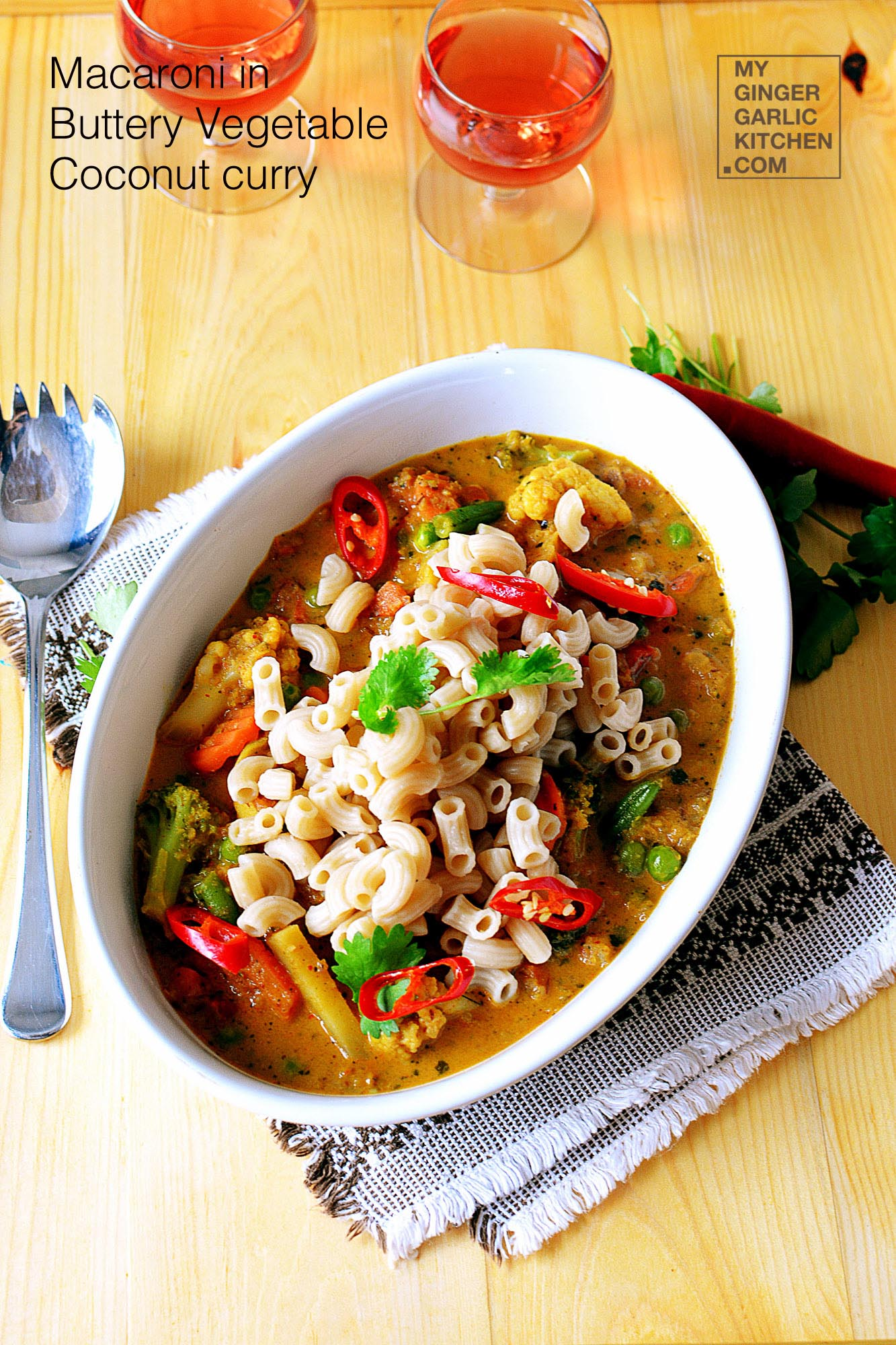 Image of One Pot Coconut Curry Pasta Recipe