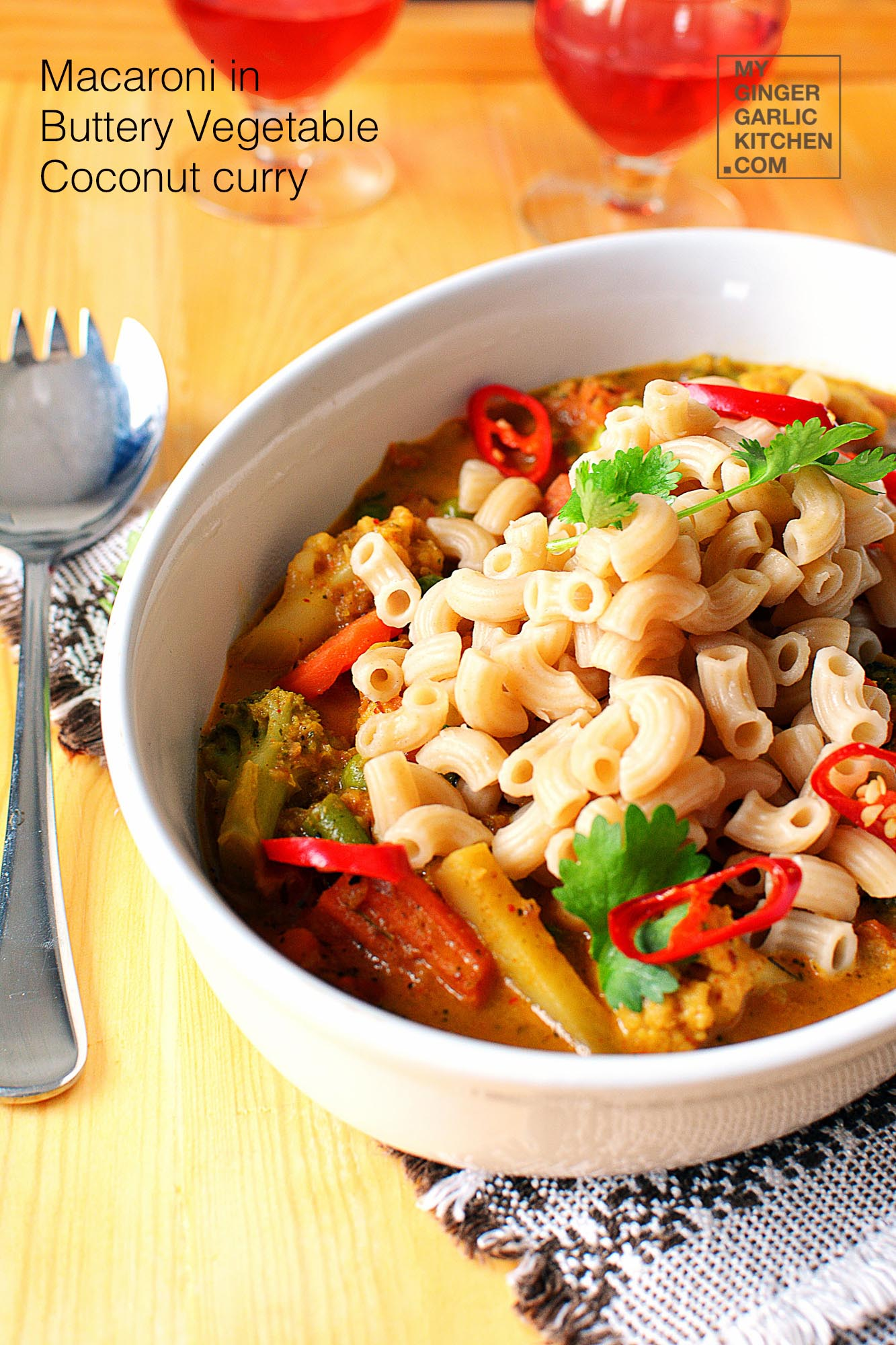Image - recipe macaroni in buttery coconut vegetable curry anupama paliwal my ginger garlic kitchen 9