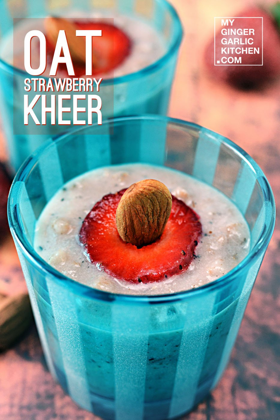 Image of Oat Strawberry Kheer – Oat Strawberry Pudding [Dessert]