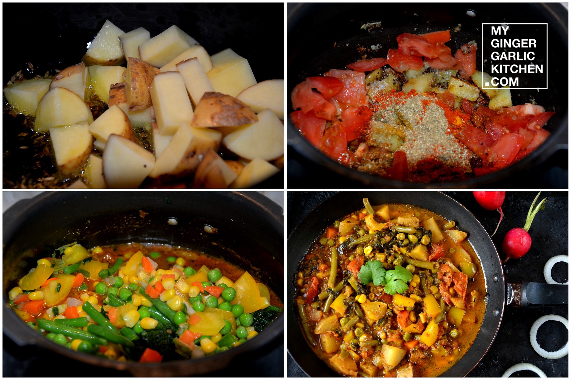 Image - recipe pressure cooker rainbow curry anupama paliwal my ginger garlic kitchen 5