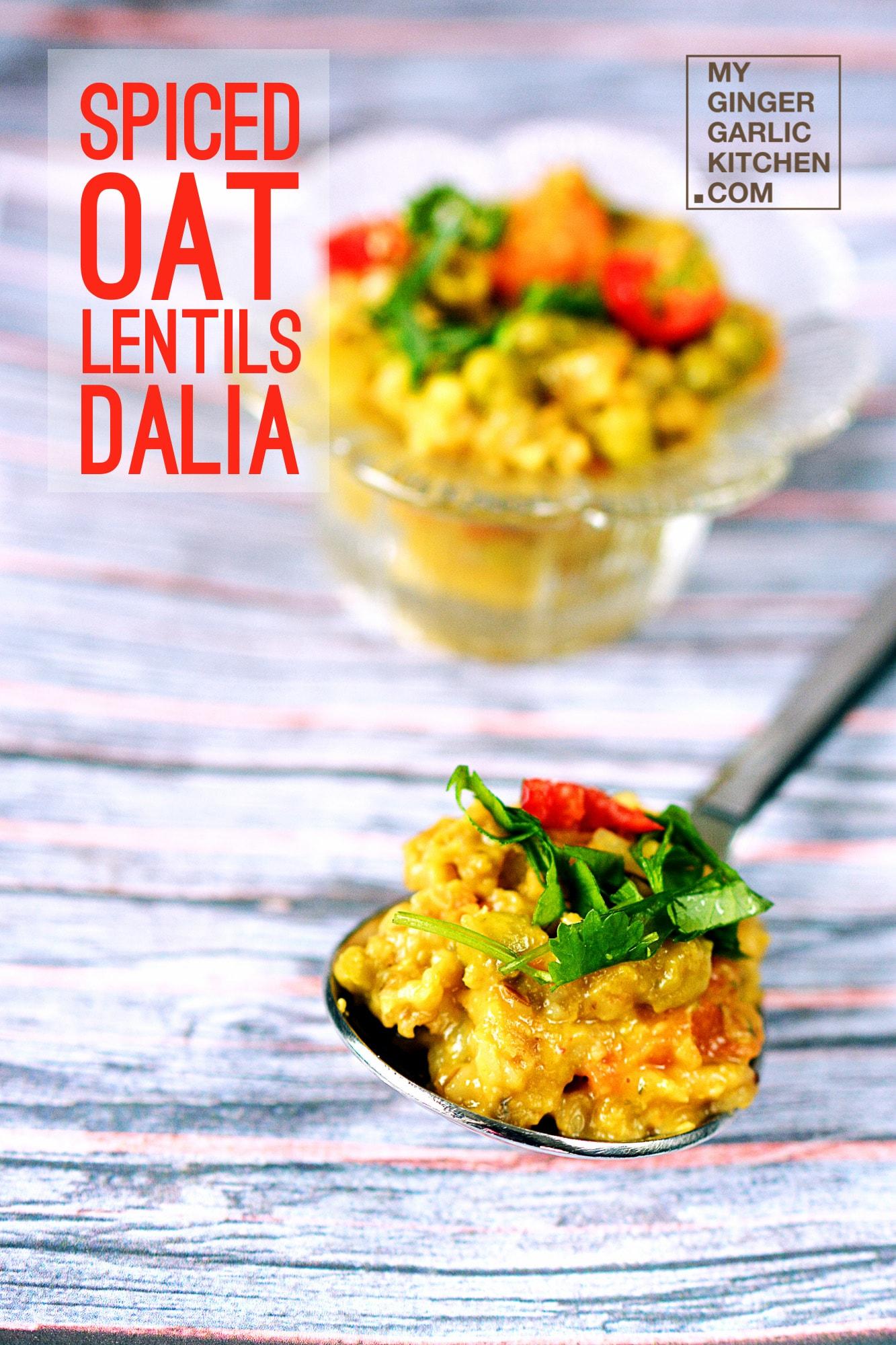 Image of Spiced Oat Lentils Dalia - Savory Oats Porridge