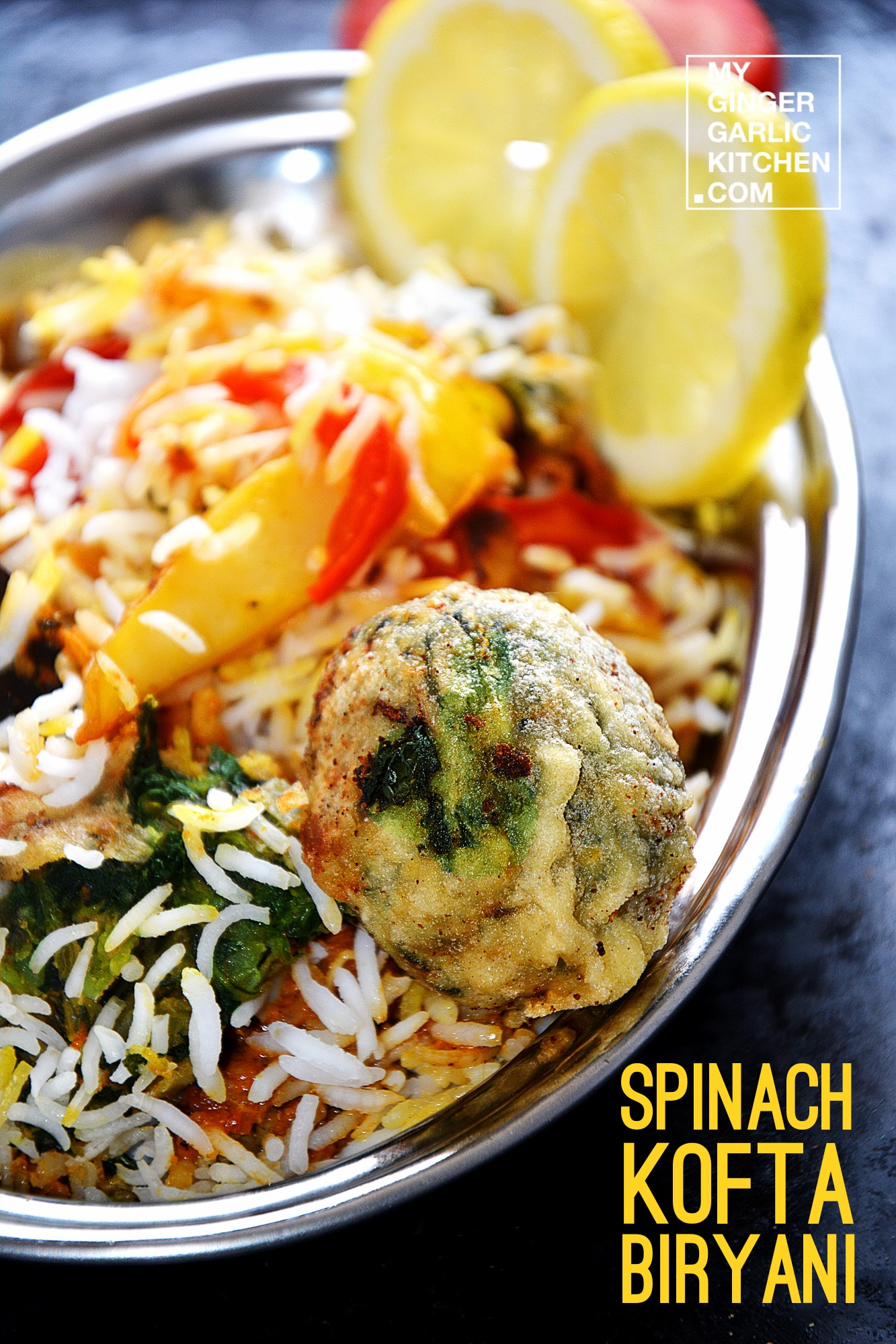 Image - recipe spinach kofta biryani anupama paliwal my ginger garlic kitchen 3 copy