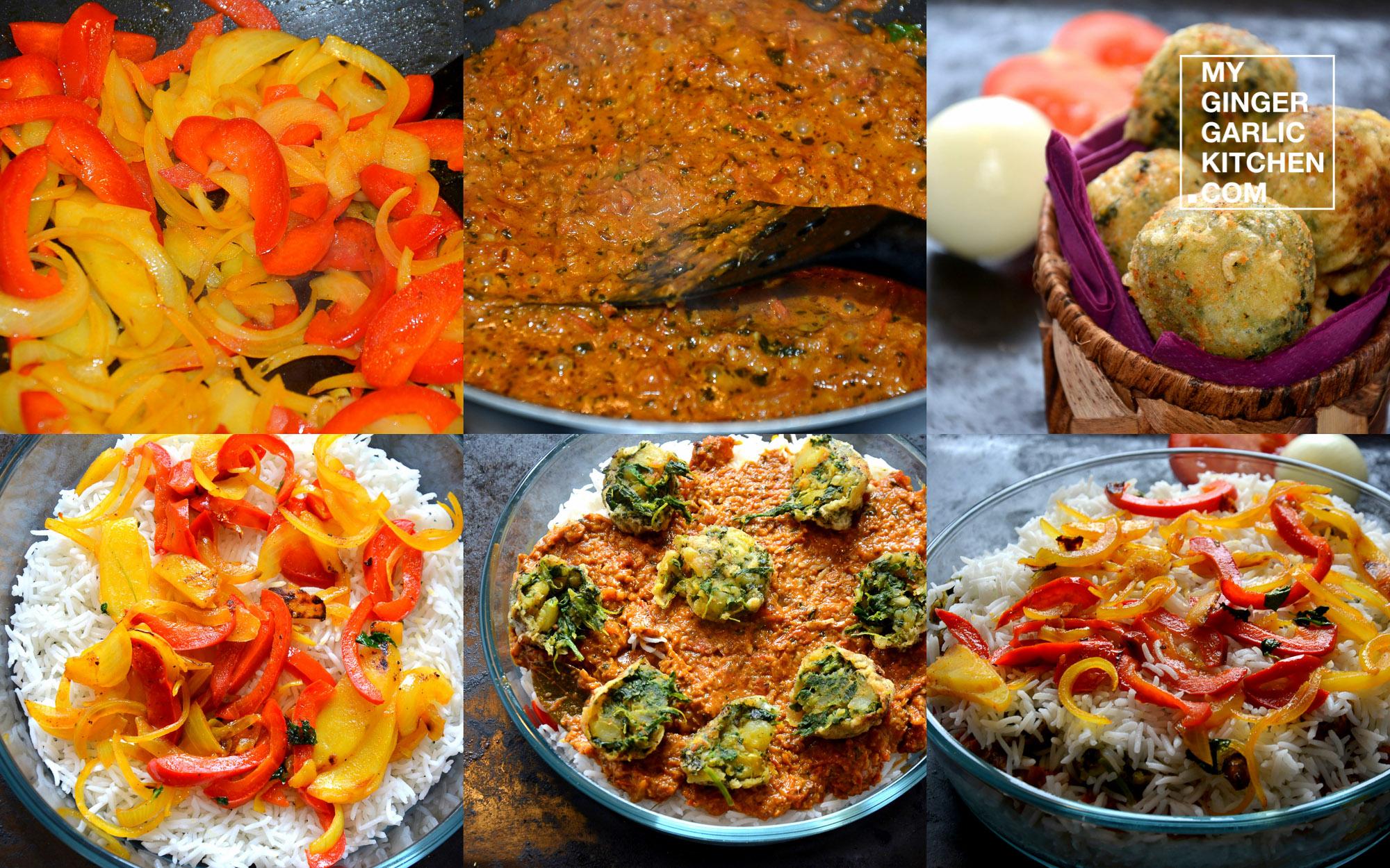 Image - recipe spinach kofta biryani anupama paliwal my ginger garlic kitchen 6