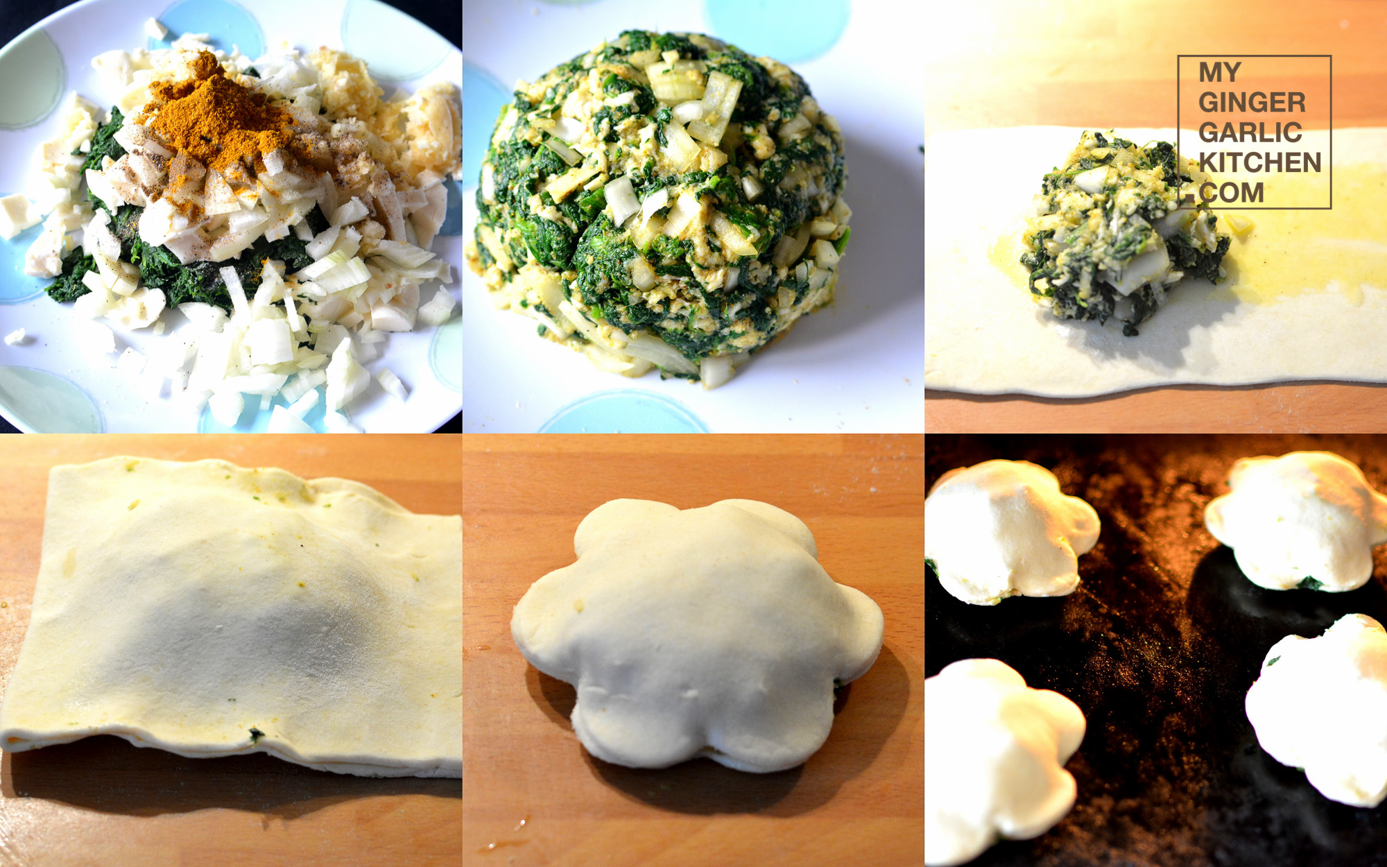 Image - recipe spinach puffs anupama paliwal my ginger garlic kitchen 10