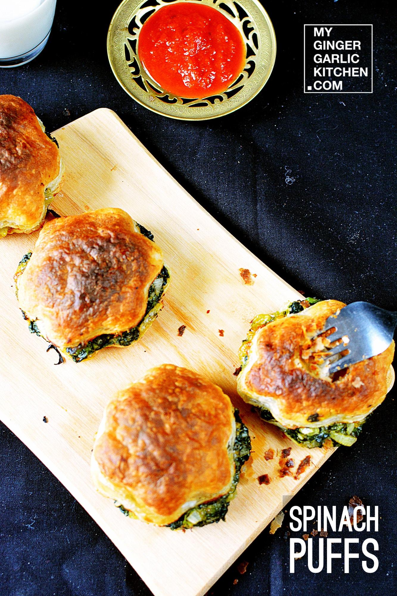 Image - recipe spinach puffs anupama paliwal my ginger garlic kitchen 2 copy