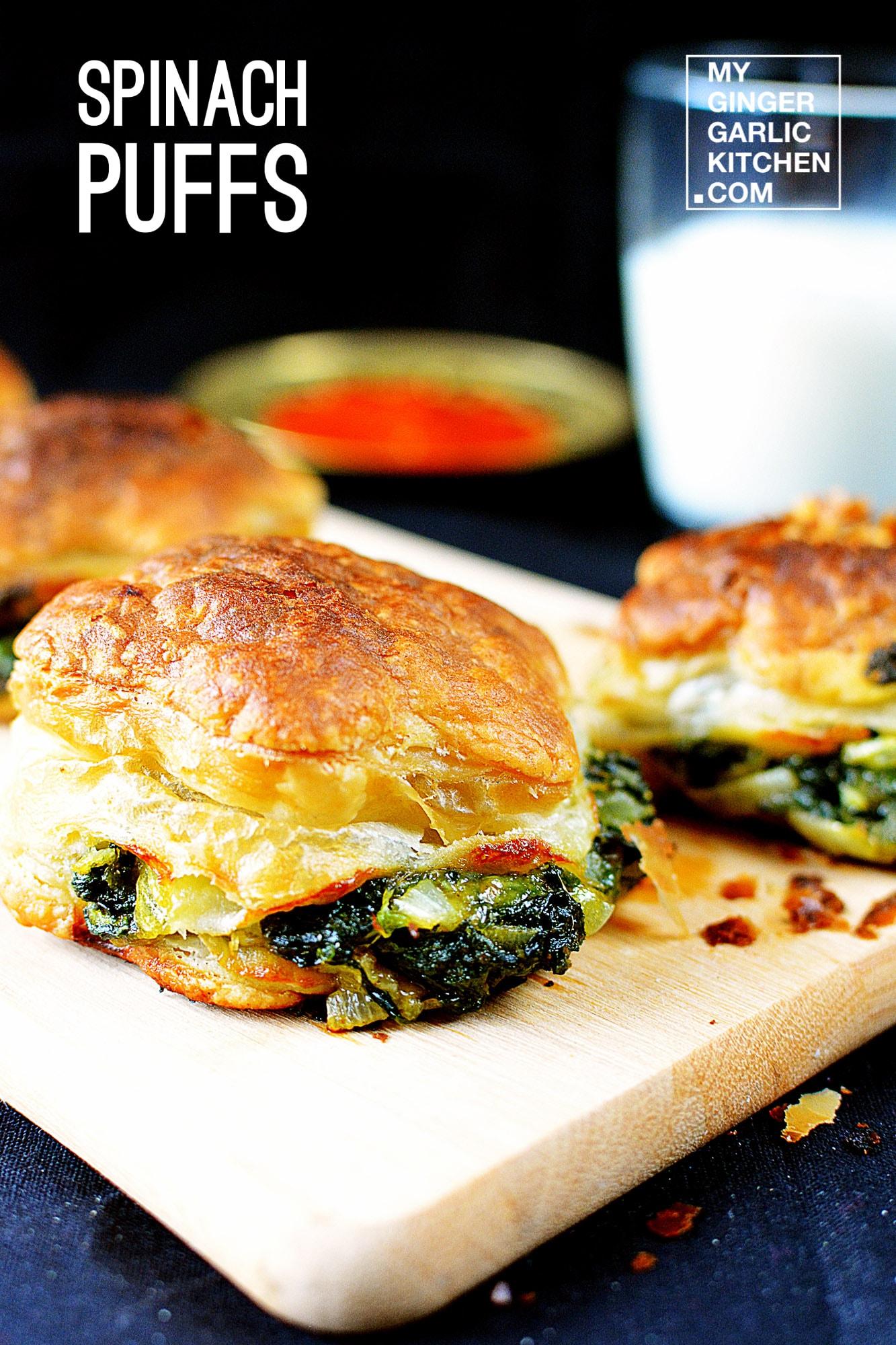 Image - recipe spinach puffs anupama paliwal my ginger garlic kitchen 3 copy