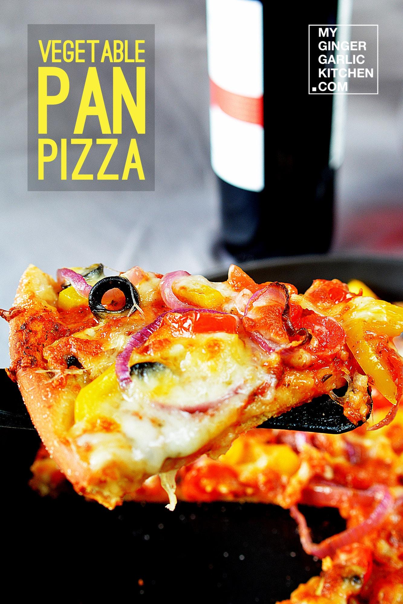 Image - recipe vegetable pan pizza anupama paliwal my ginger garlic kitchen 3 copy