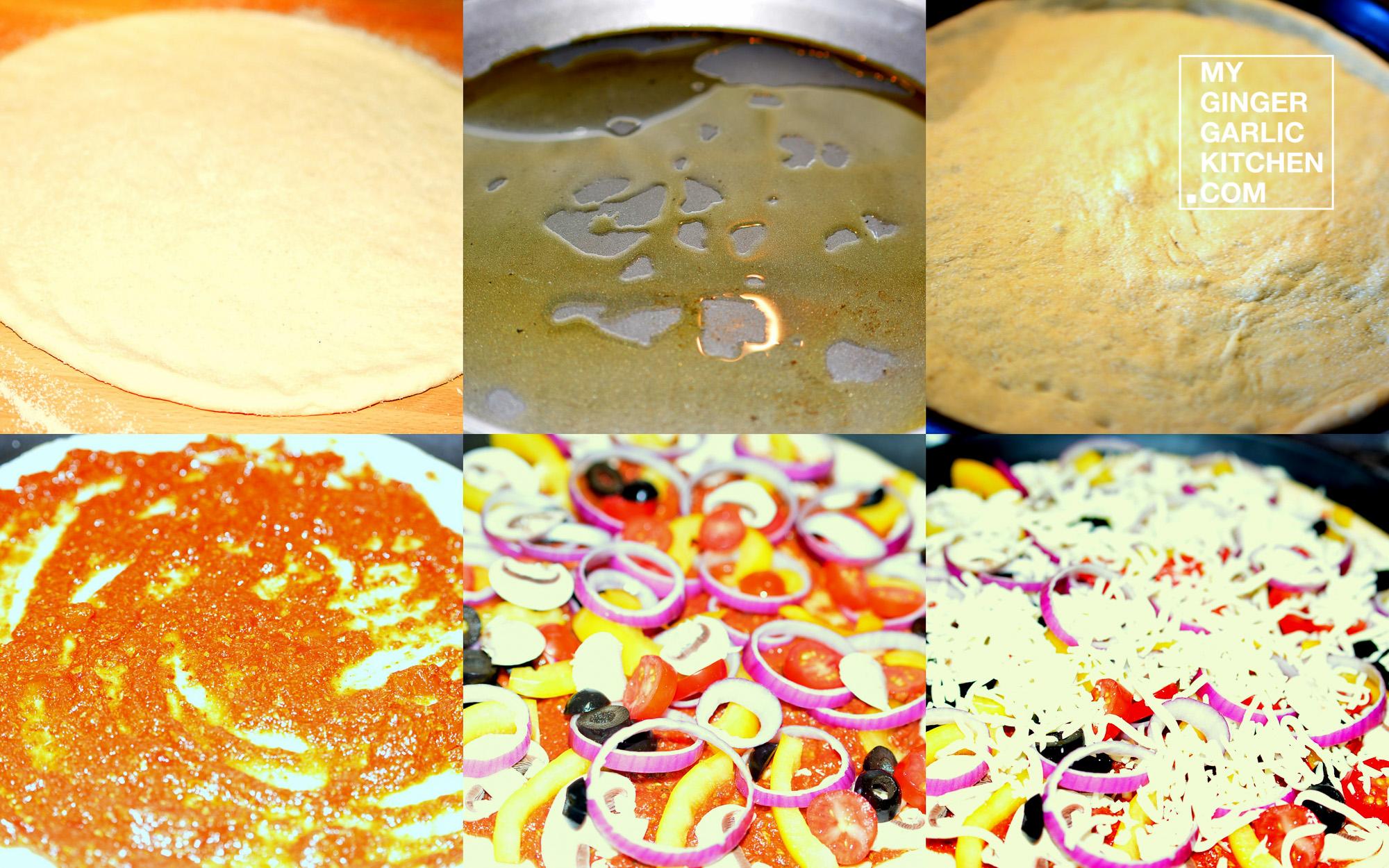 Image - recipe vegetable pan pizza anupama paliwal my ginger garlic kitchen 8