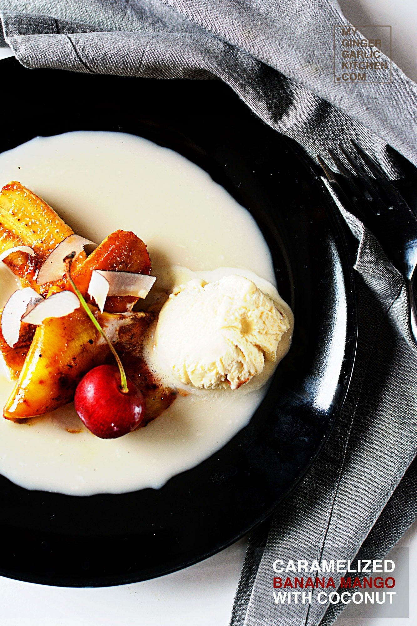 Image - recipe caramelized banana mango with coconut anupama paliwal my ginger garlic kitchen 5