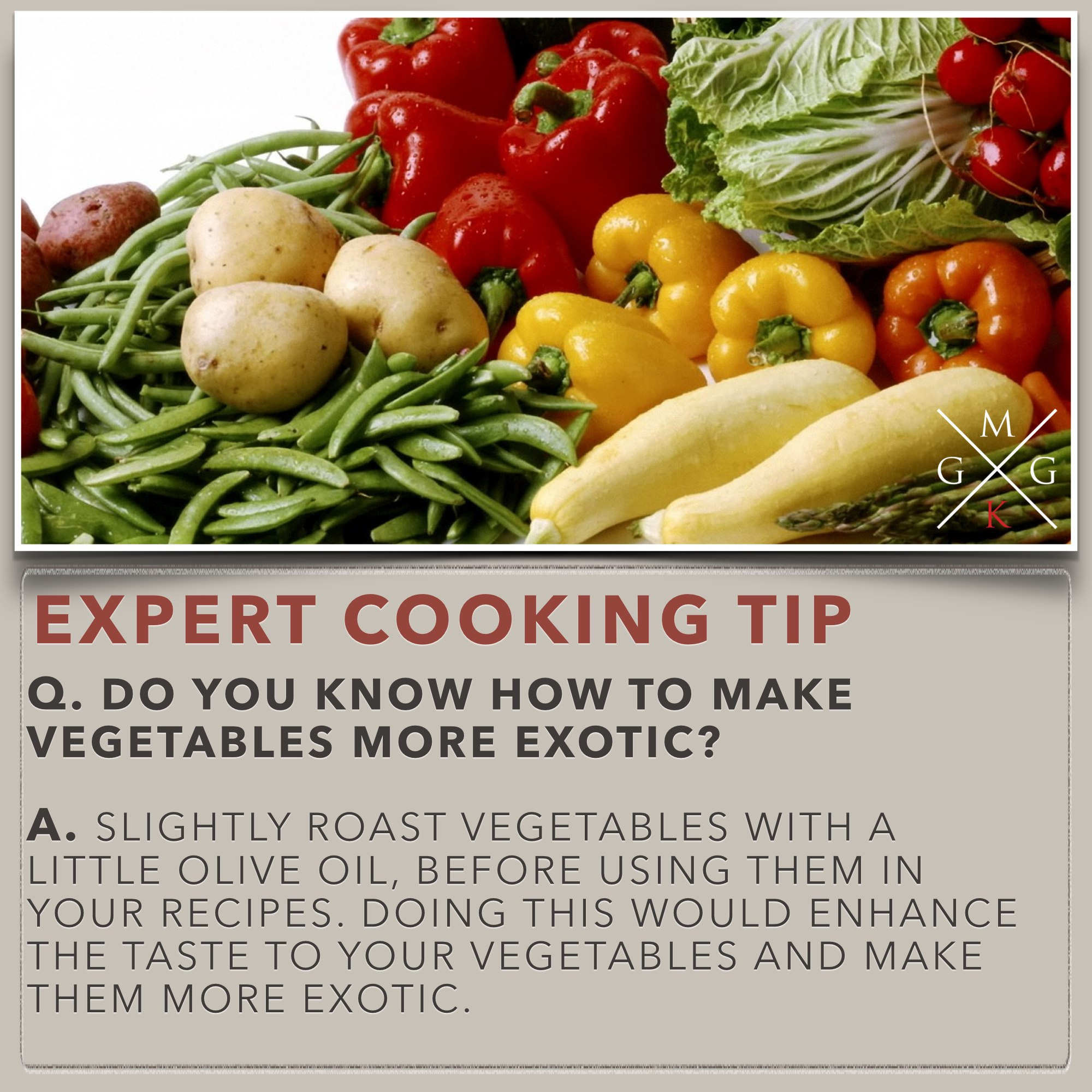 Cooking Tips - Do you know how to make vegetables more exotic [Cooking -Tips] My Ginger Garlic Kitchen