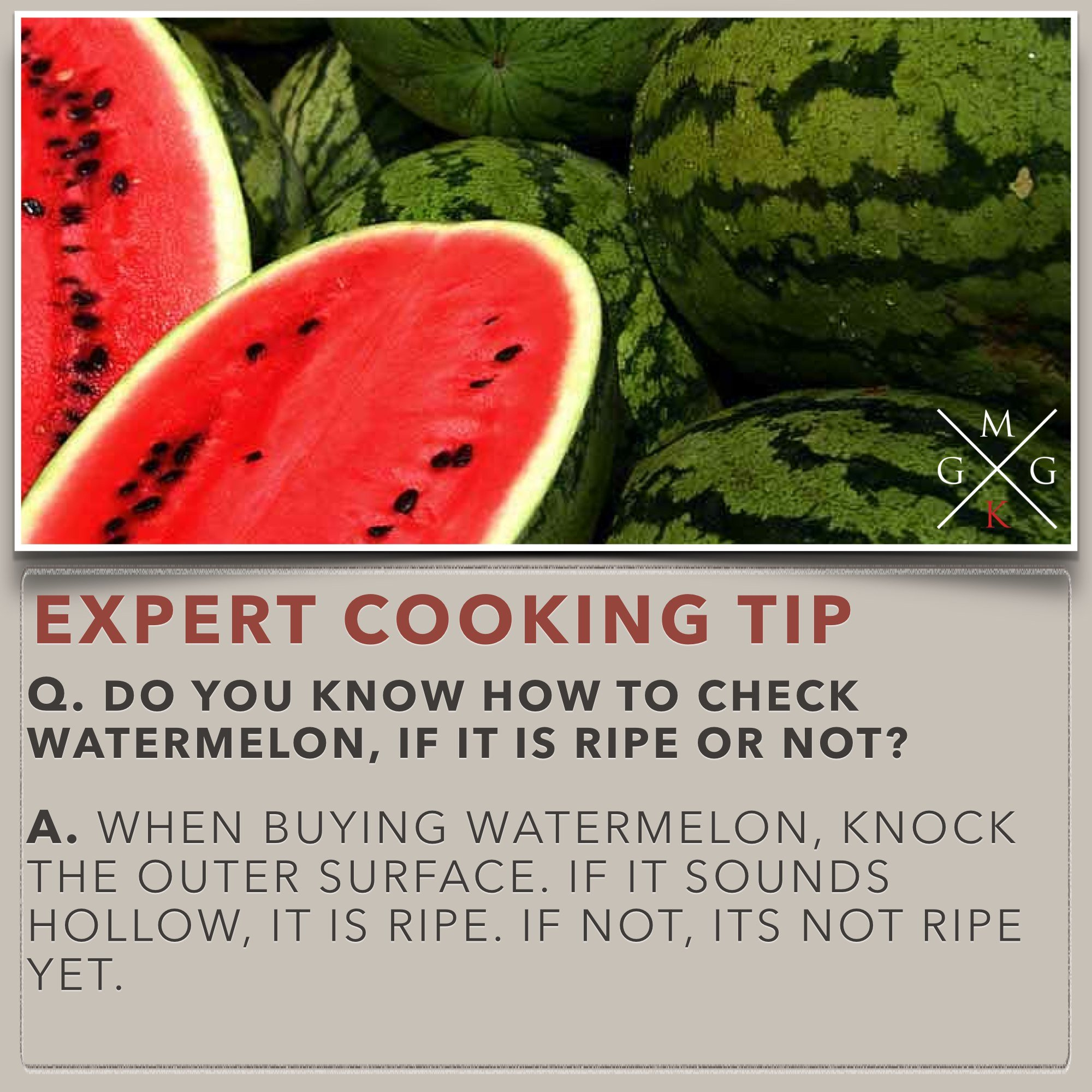 Cooking Tips - Do you know how to check watermelon, if it is ripe or not [Kitchen-Tips] My Ginger Garlic Kitchen