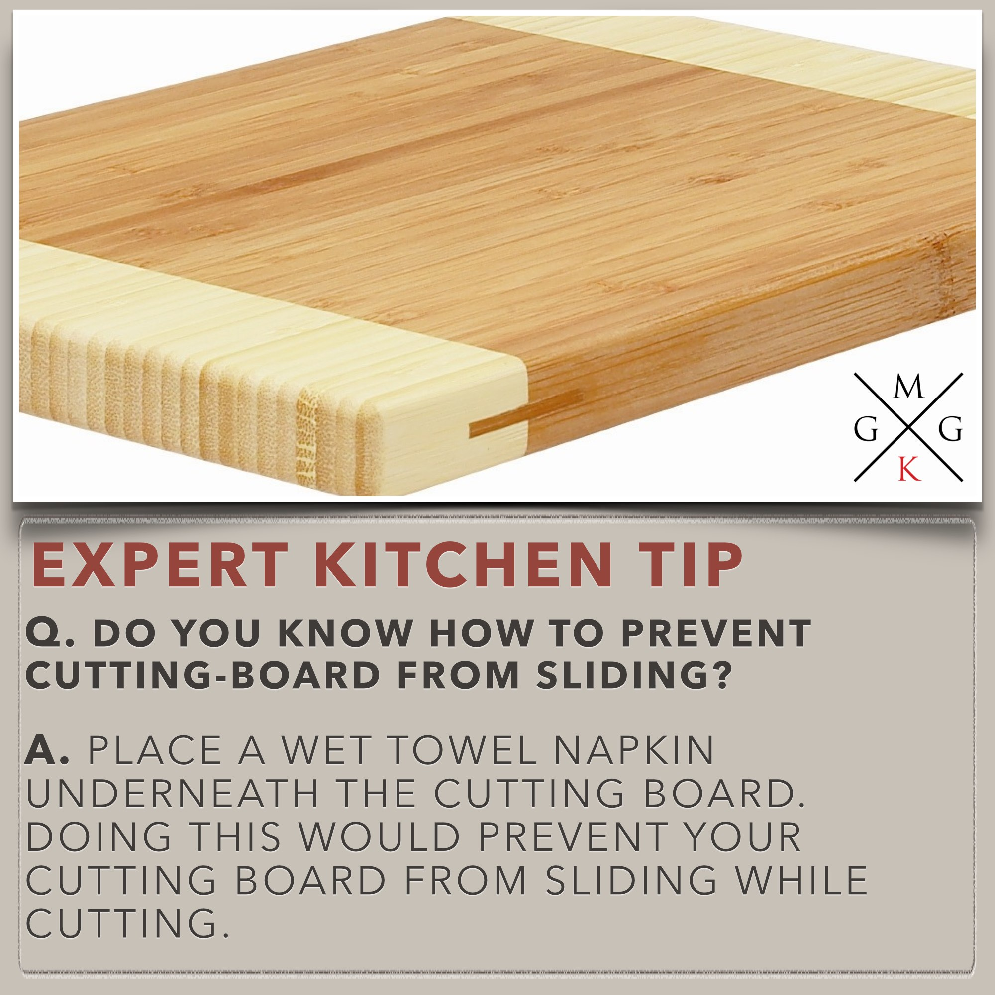 Do You Know How To Prevent Cutting Board From Sliding [Kitchen Tips]
