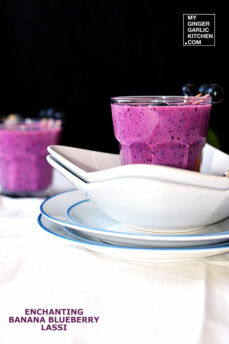 Image - recipe enchanting banana blueberry lassi anupama paliwal my ginger garlic kitchen 4