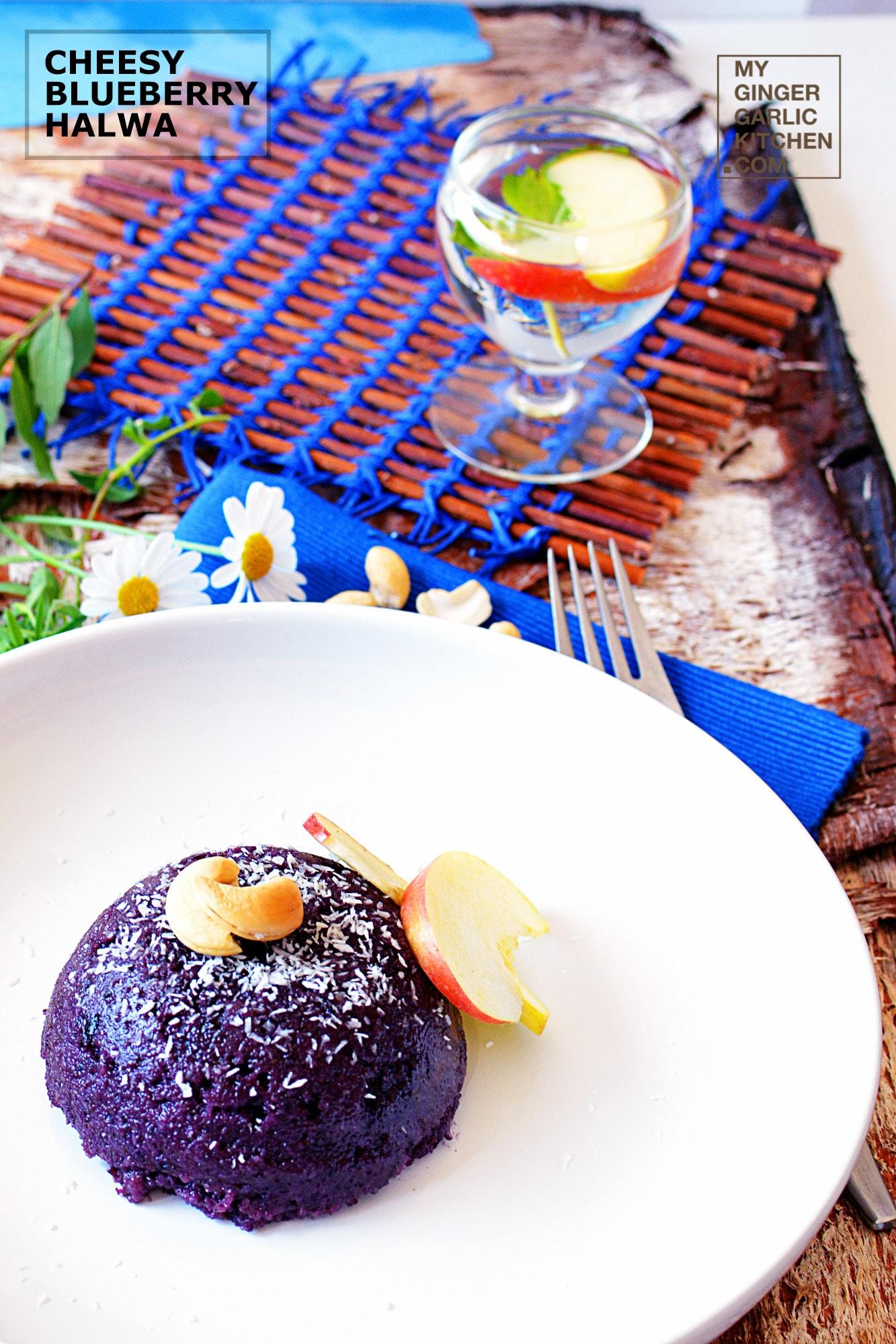 Image - recipe cheesy blueberry halwa anupama paliwal my ginger garlic kitchen 1 copy