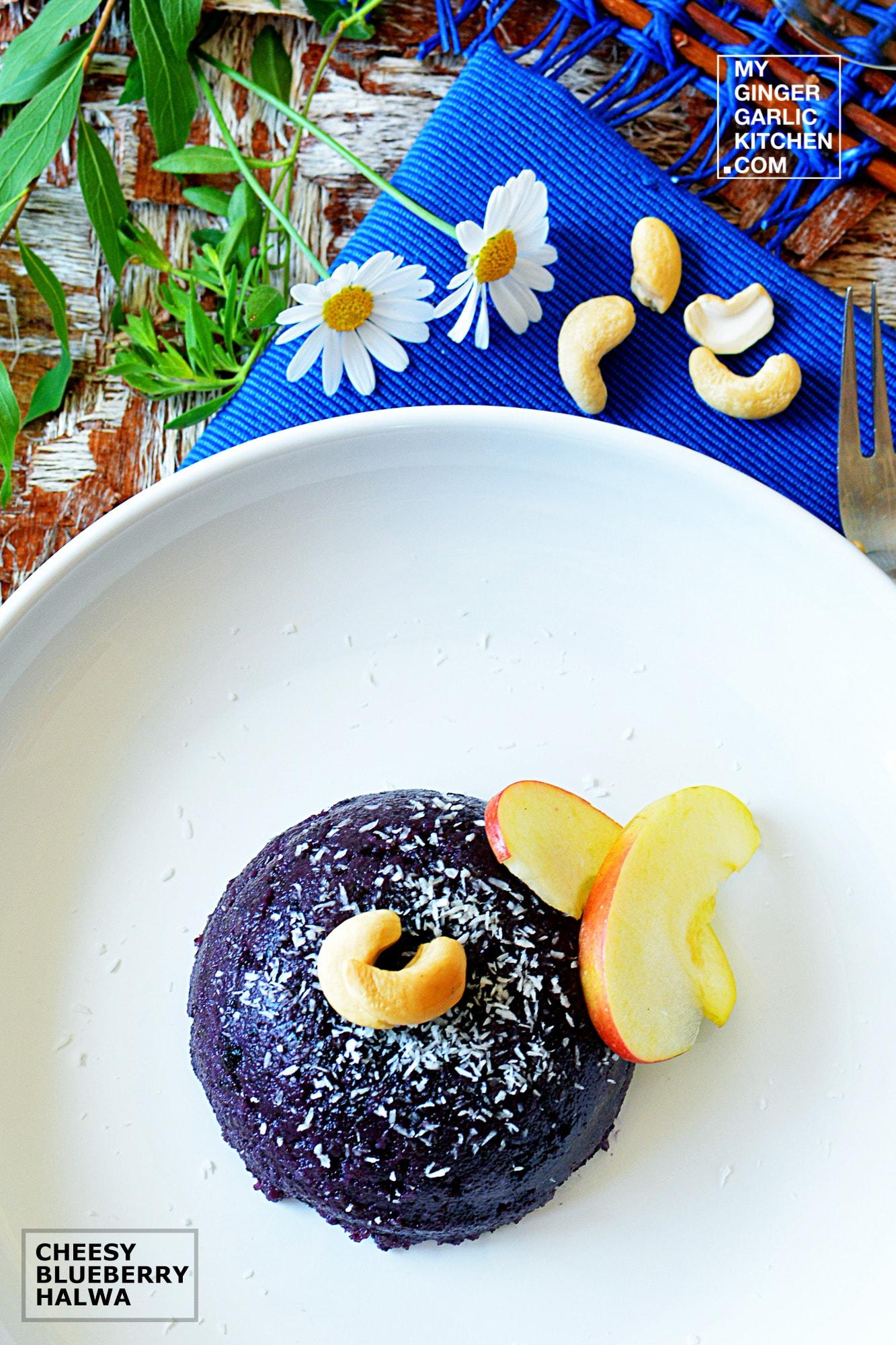 Image - recipe cheesy blueberry halwa anupama paliwal my ginger garlic kitchen 4