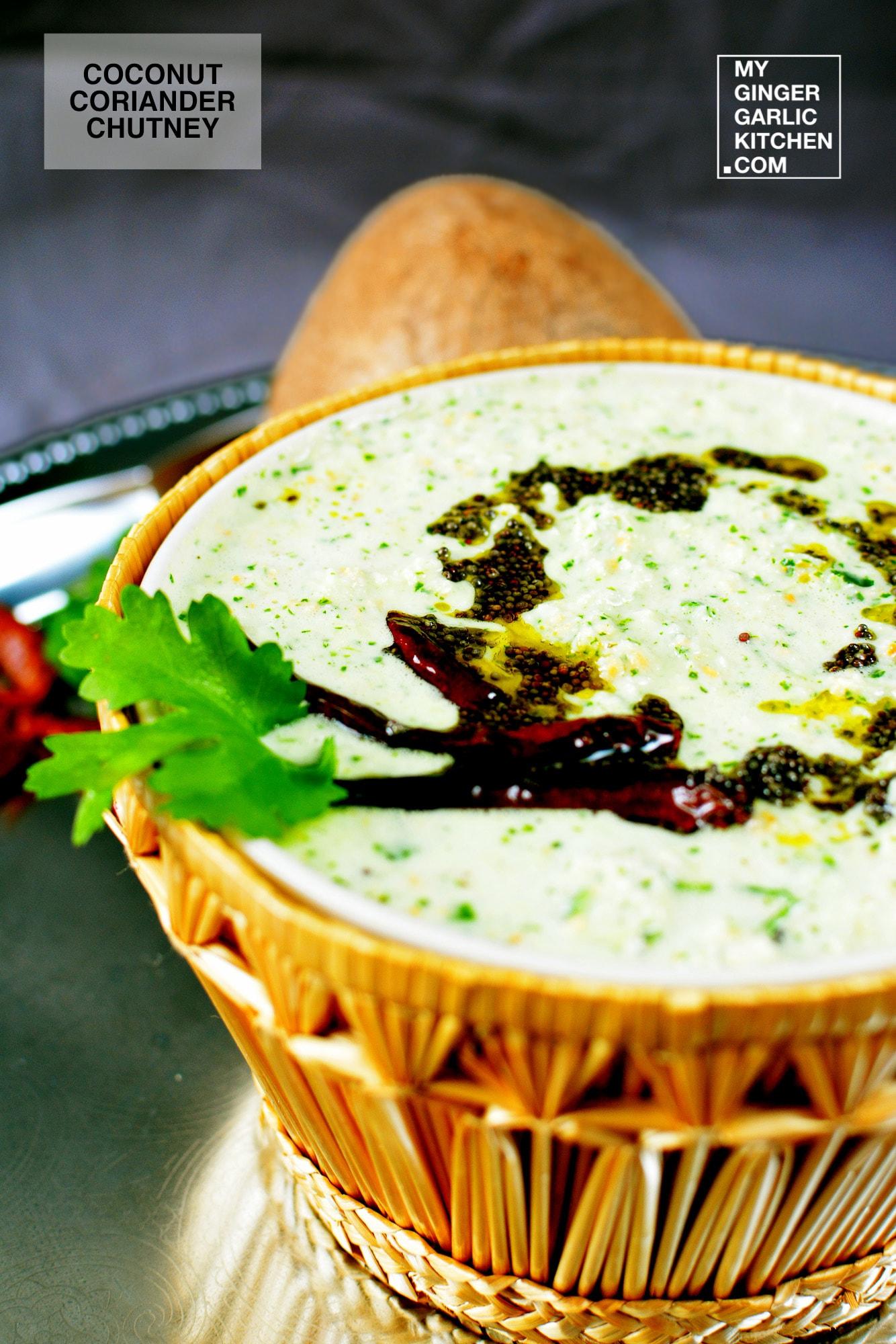 Image - recipe coconut coriander chutney anupama paliwal my ginger garlic kitchen 5