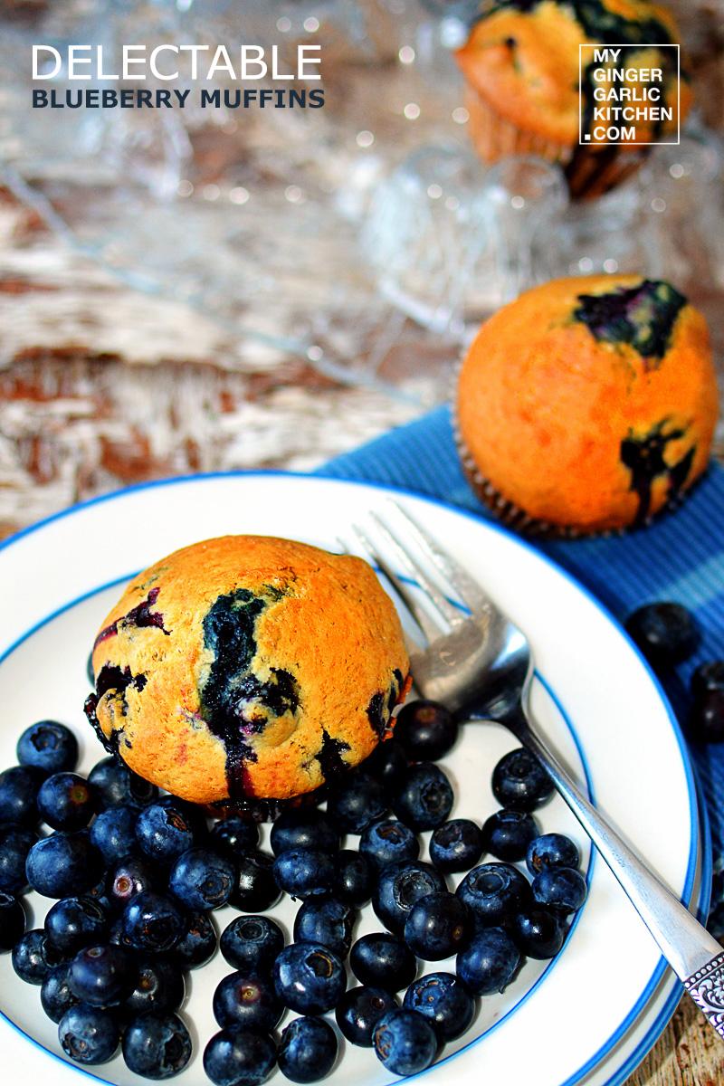 Image - recipe delectable blueberry muffins anupama paliwal my ginger garlic kitchen 1