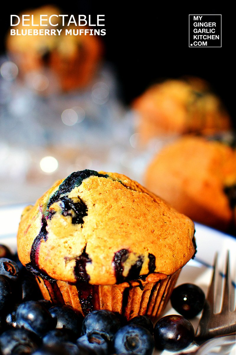 Image of Delectable Blueberry Muffins For 4