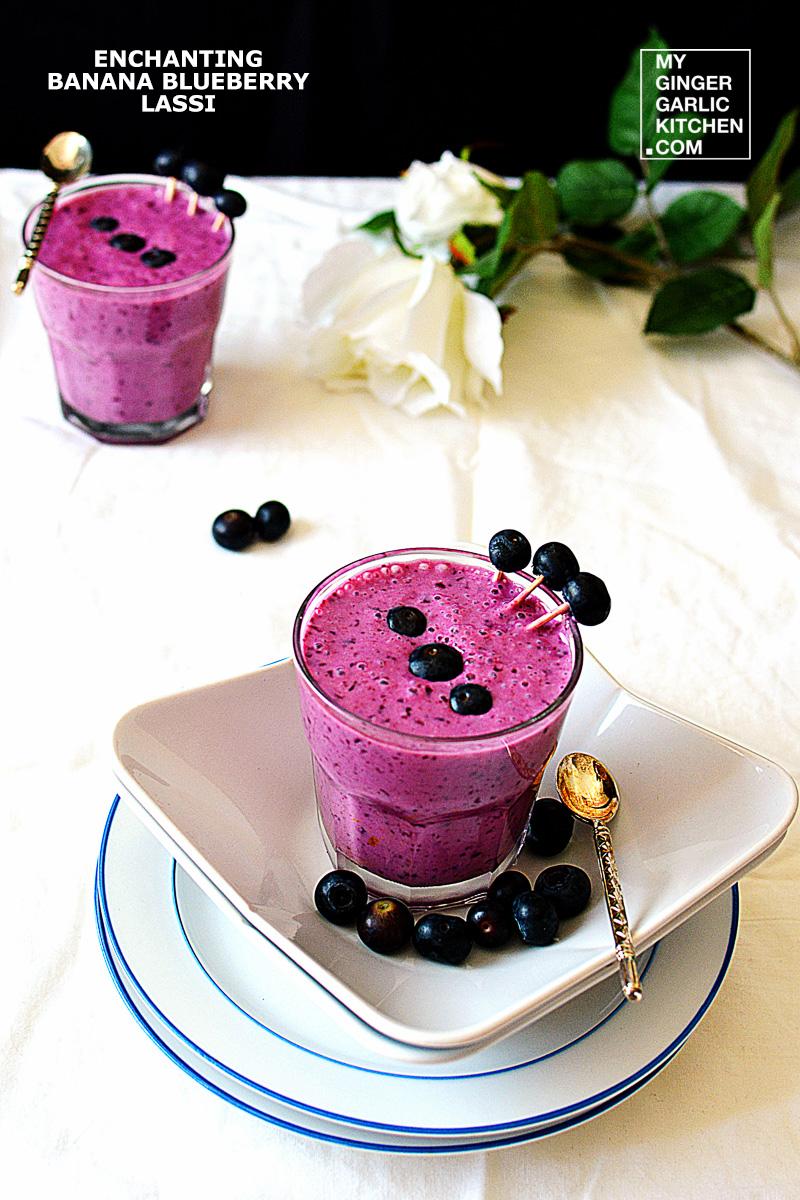 Image - recipe enchanting banana blueberry lassi anupama paliwal my ginger garlic kitchen 3