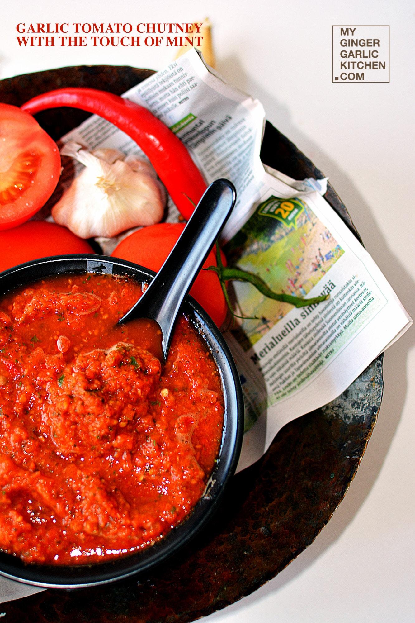 tomato garlic ginger chutney recipe