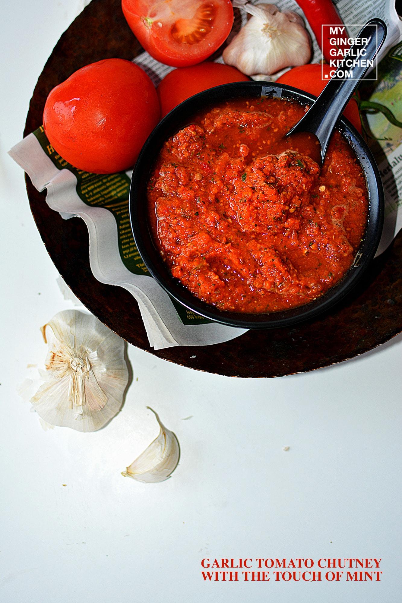 Image - recipe garlic tomato chutney with the touch of int anupama paliwal my ginger garlic kitchen 4
