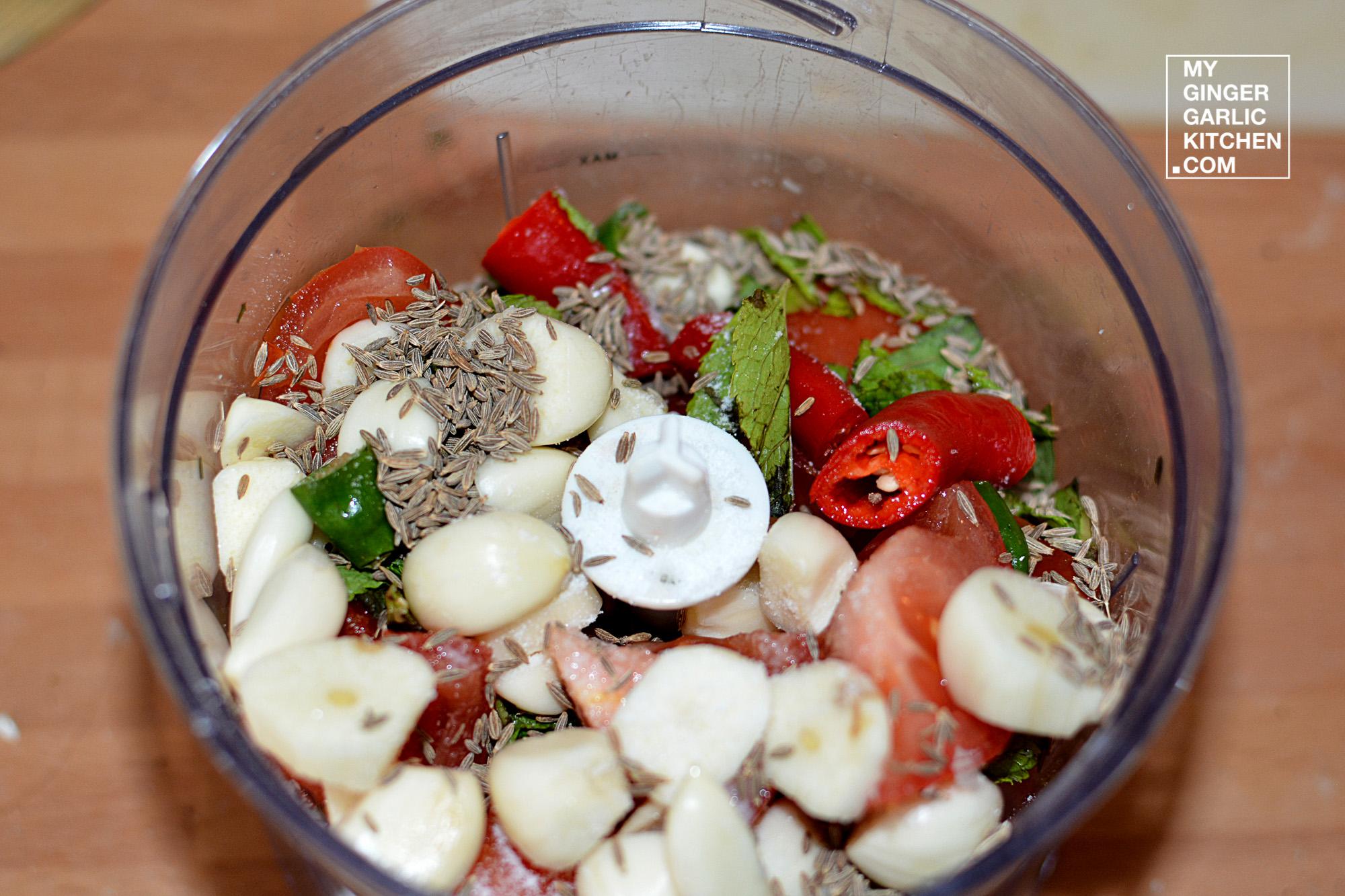 Image - recipe garlic tomato chutney with the touch of int anupama paliwal my ginger garlic kitchen 5
