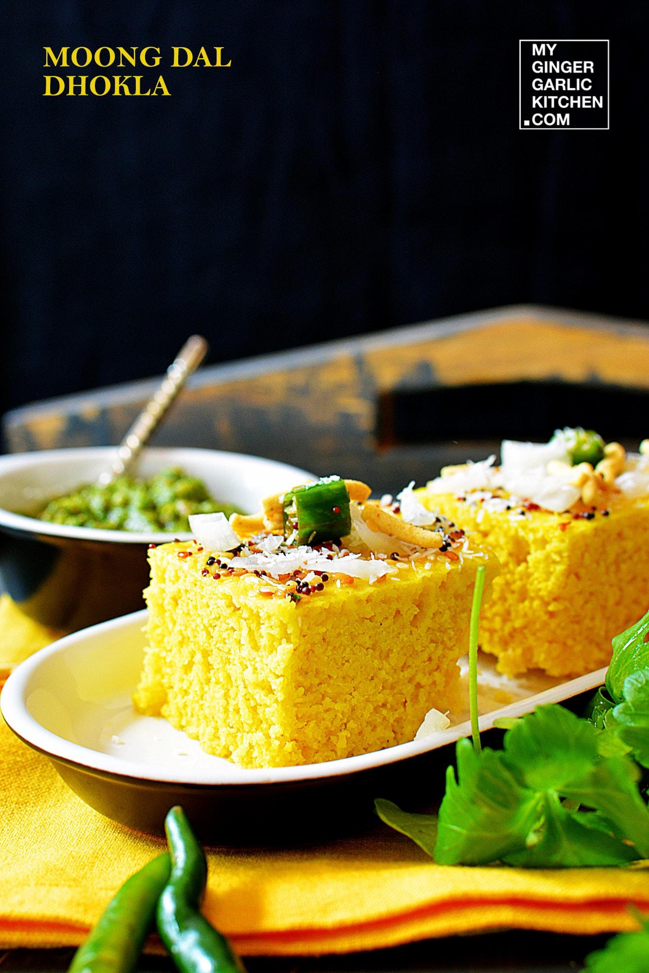 Image - recipe moong dal dhokla anupama paliwal my ginger garlic kitchen 2