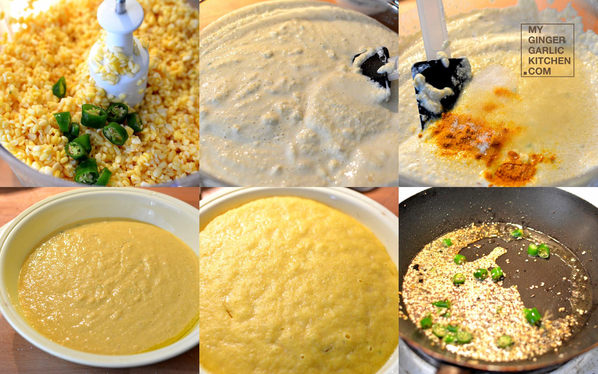 Moong dal dhokla recipe my ginger garlic kitchen moong dal dhokla recipe forumfinder Images