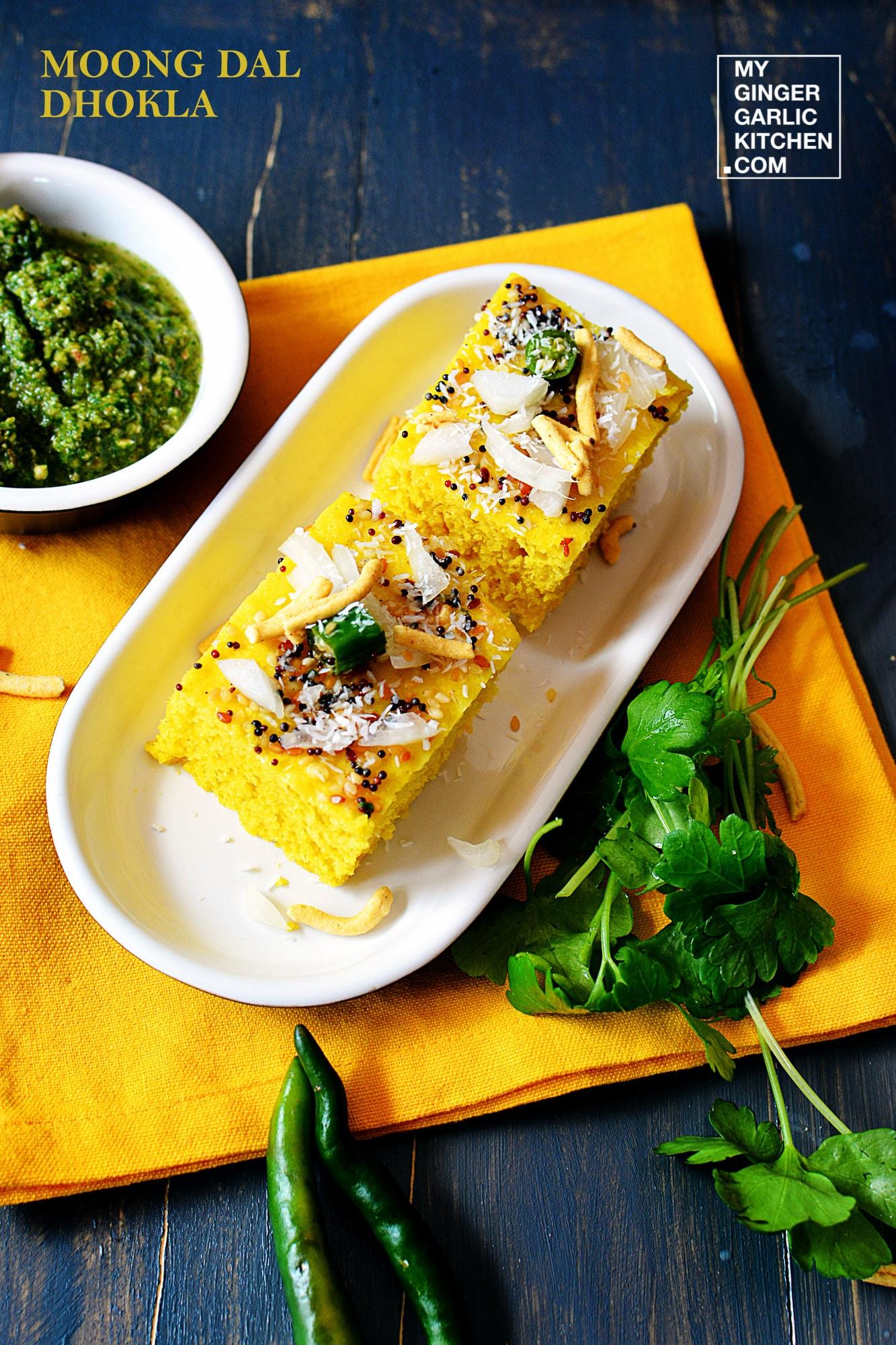 Image - recipe moong dal dhokla anupama paliwal my ginger garlic kitchen 9