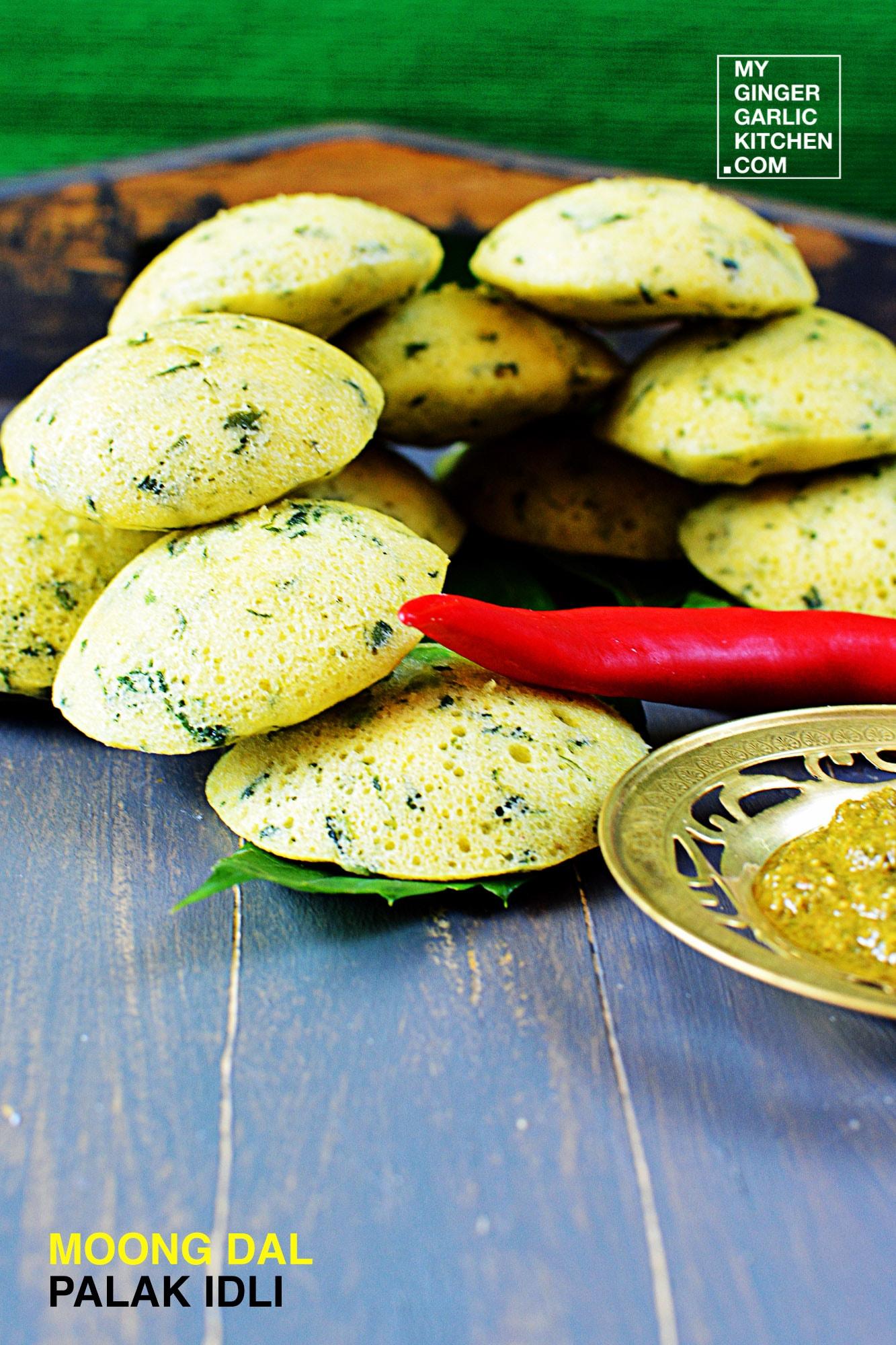 Image - recipe moong dal palak idli anupama paliwal my ginger garlic kitchen 2