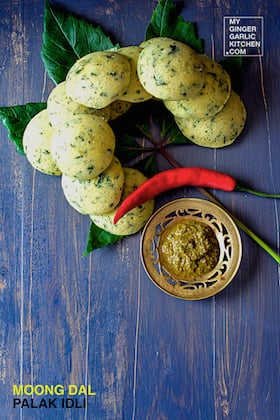 Image of Moong Dal Palak Idli
