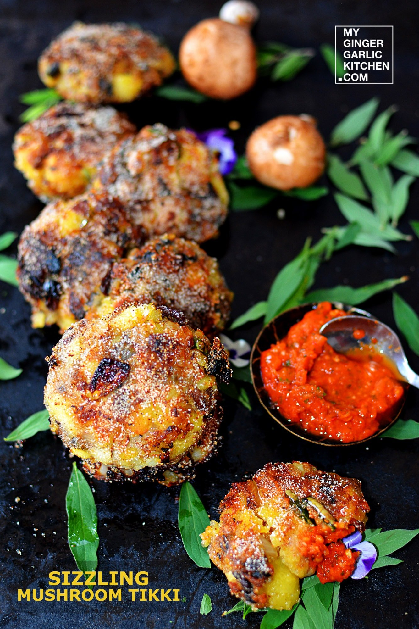 recipe-sizzling-mushroom-tikki-anupama-paliwal-my-ginger-garlic-kitchen-3