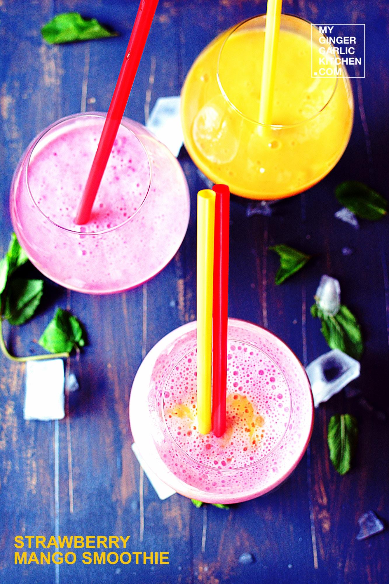 Image - recipe strawberry mango milkshake anupama paliwal my ginger garlic kitchen 3 copy
