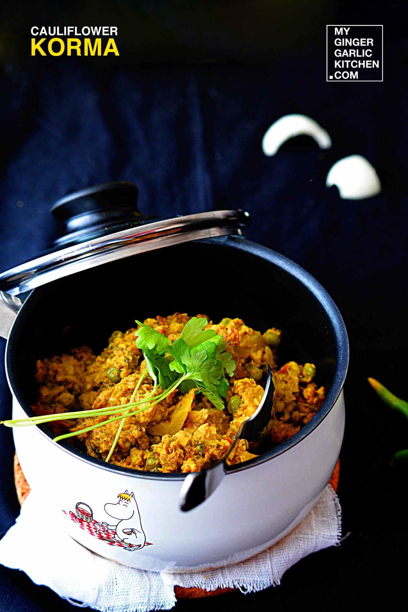 Image - recipe tantalizing cauliflower korma anupama paliwal my ginger garlic kitchen 3