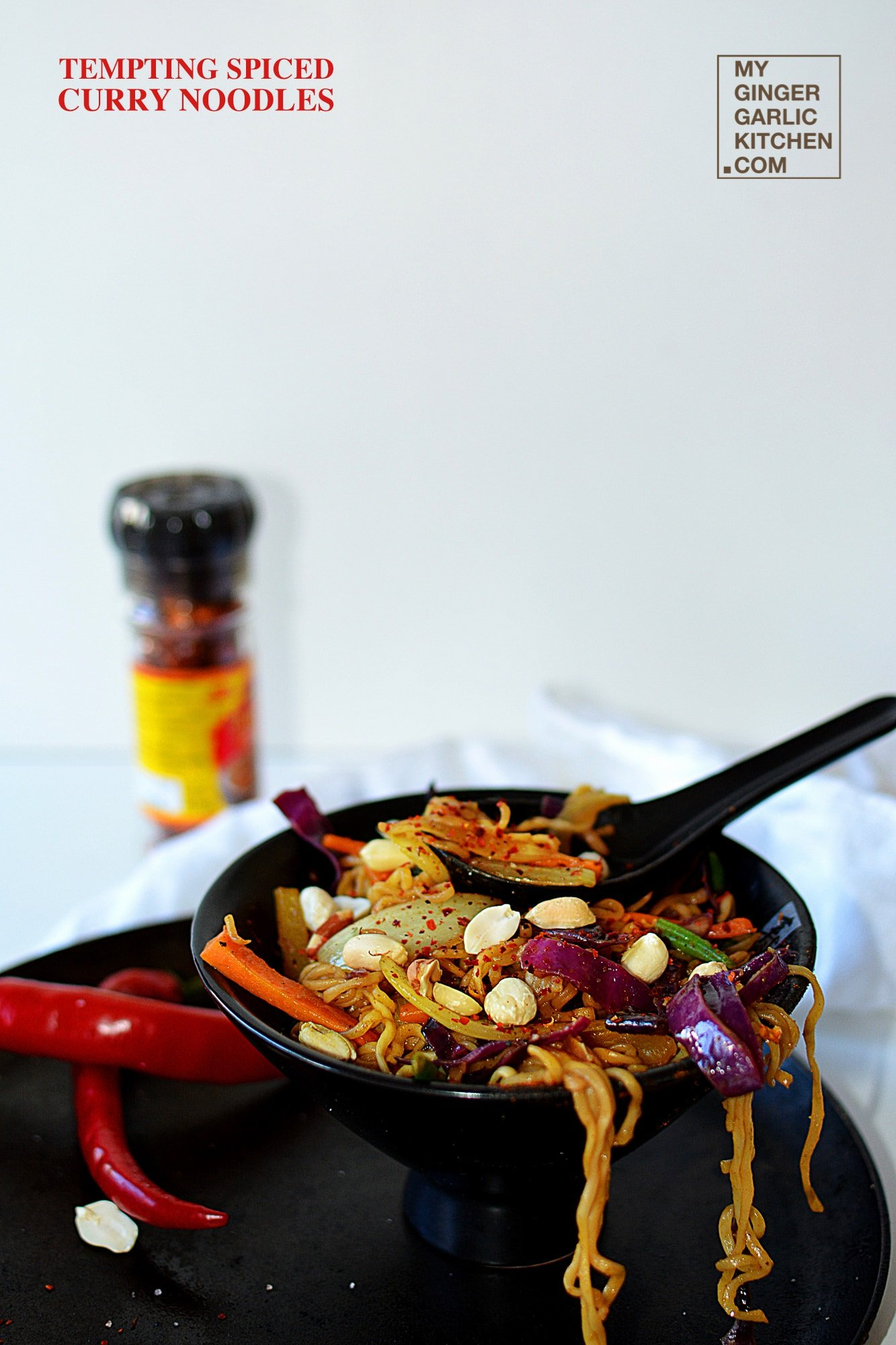 Image - recipe tempting spiced curry noodles anupama paliwal my ginger garlic kitchen 1