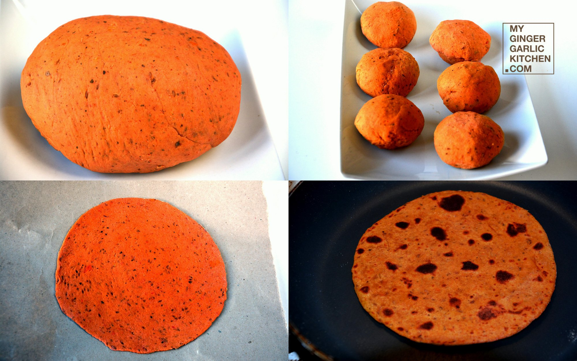 Image - recipe tomato paratha anupama paliwal my ginger garlic kitchen 4