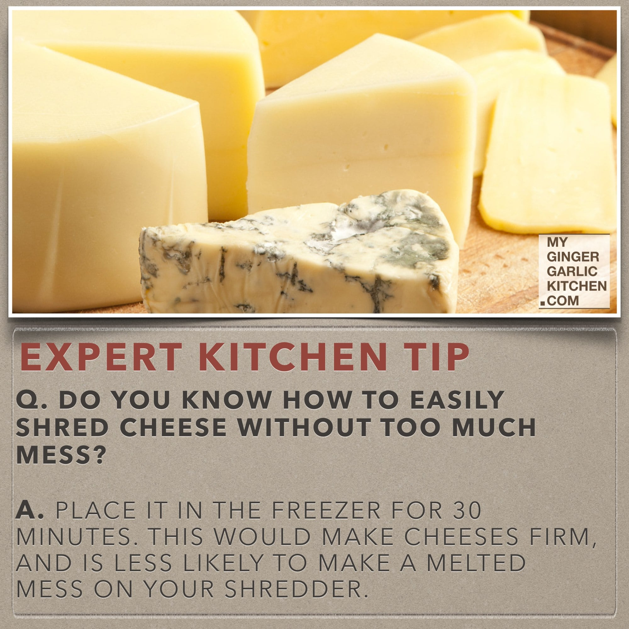 Cooking Tips - Do you know how to easily shred cheese without too much mess [Kitchen-Tips] My Ginger Garlic