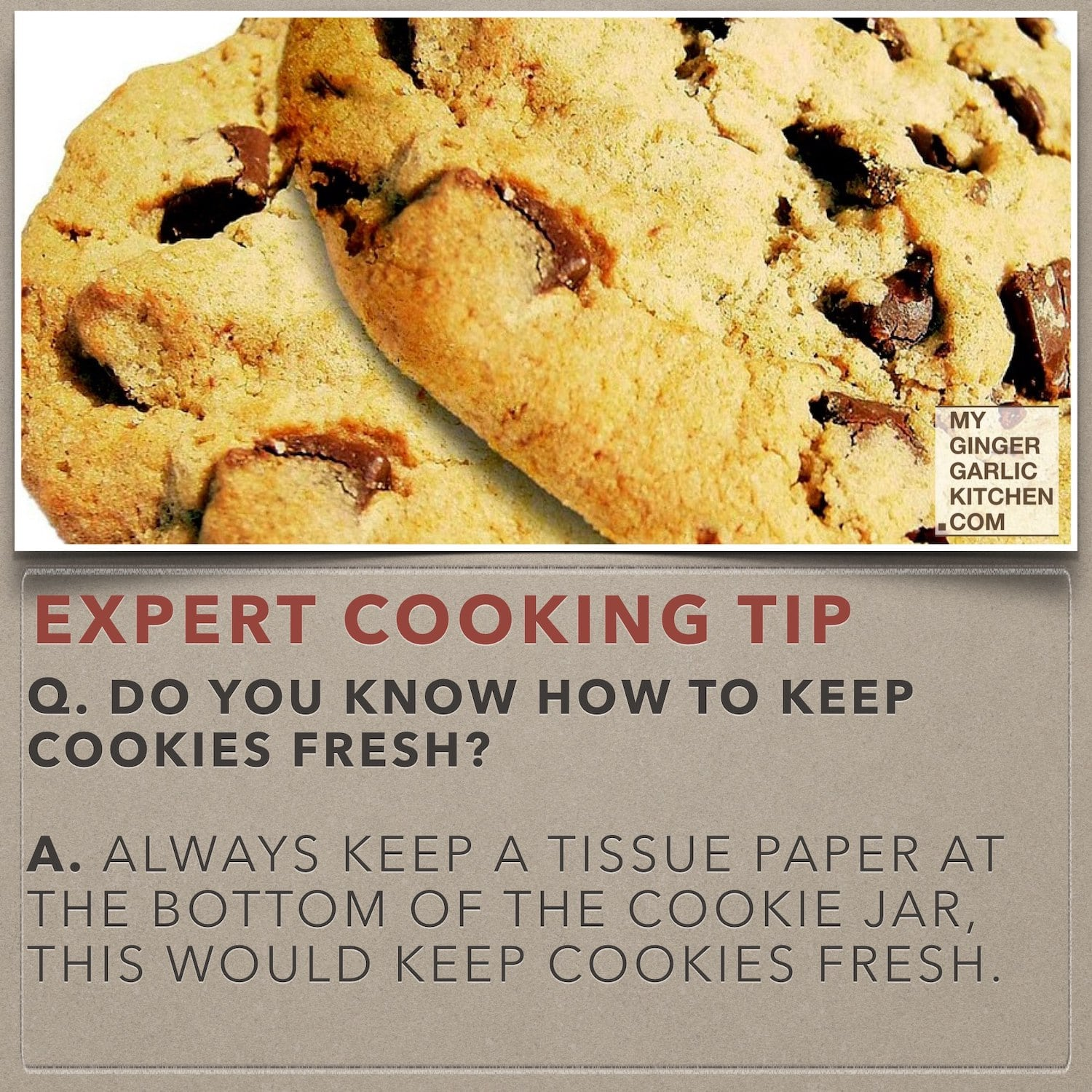 Do you know how to keep cookies fresh? (Cooking -Tip)