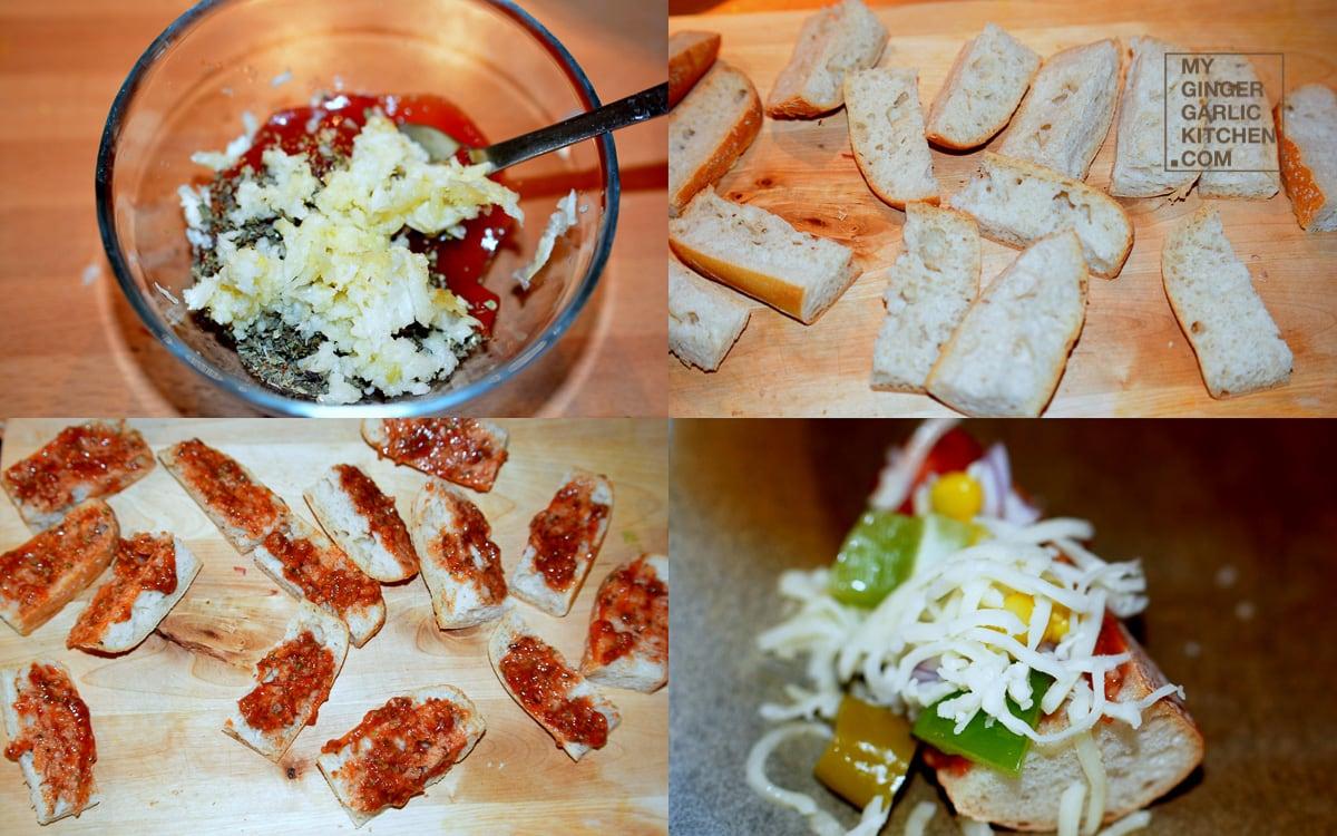 Image - recipe baguette pizza bites anupama paliwal my ginger garlic kitchen 8