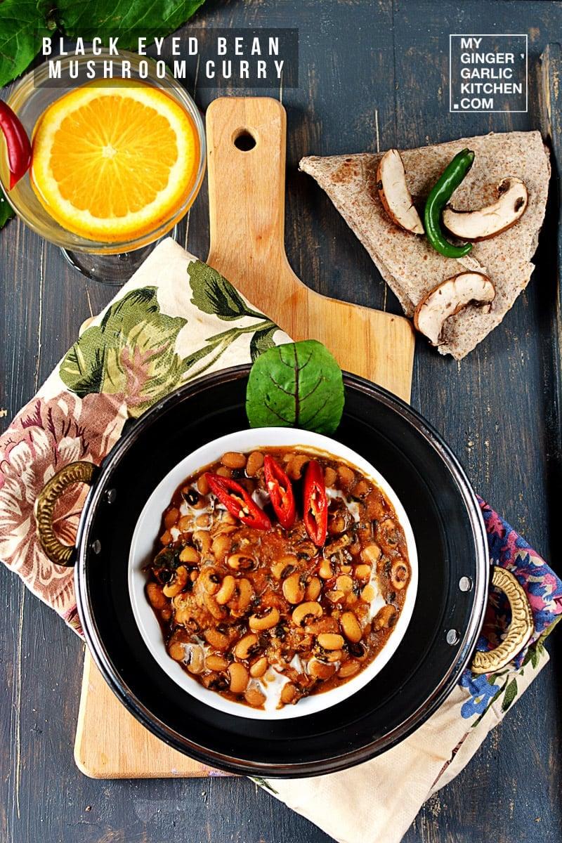 Image of Black-eyed Bean Mushroom Curry