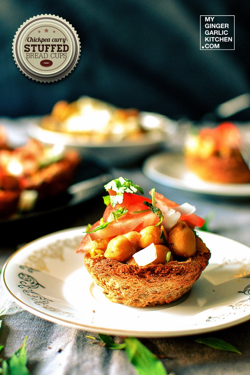 Image of Chickpea Curry Stuffed Crispy Bread Cups