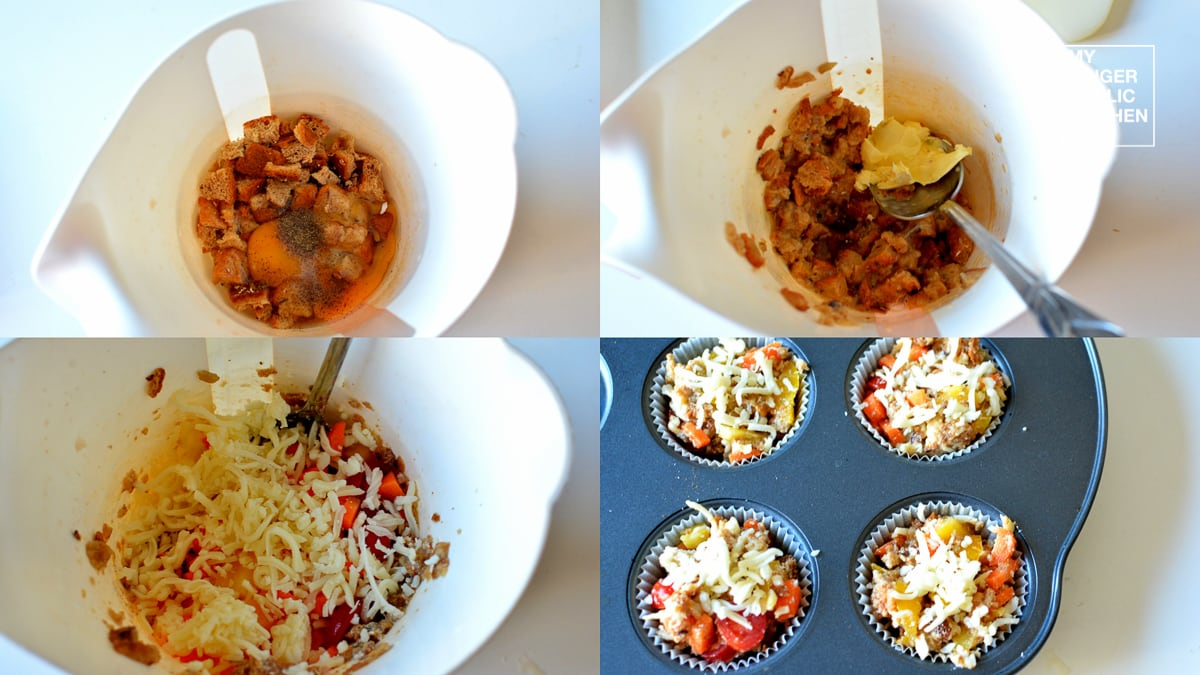 Image - recipe chopped bread cup baked appetizers anupama paliwal my ginger garlic kitchen 8