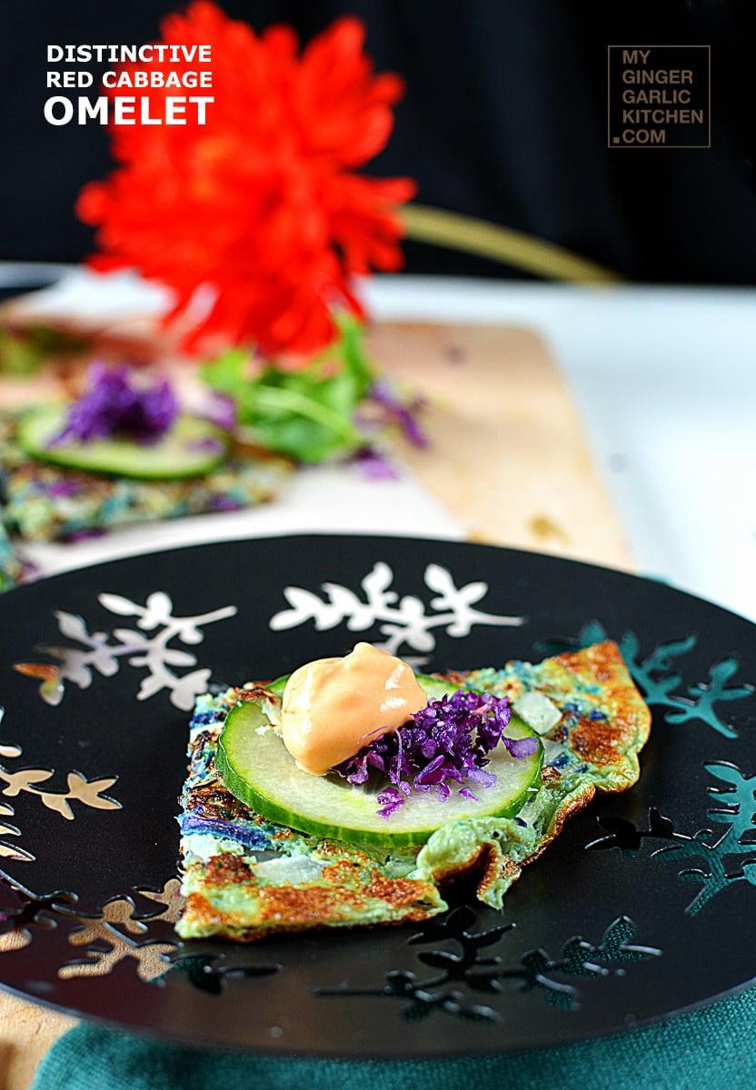 Image - recipe distinctive red cabbage omelet anupama paliwal my ginger garlic kitchen 2