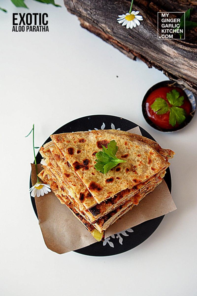 Image - recipe exotic aloo paratha anupama paliwal my ginger garlic kitchen 4