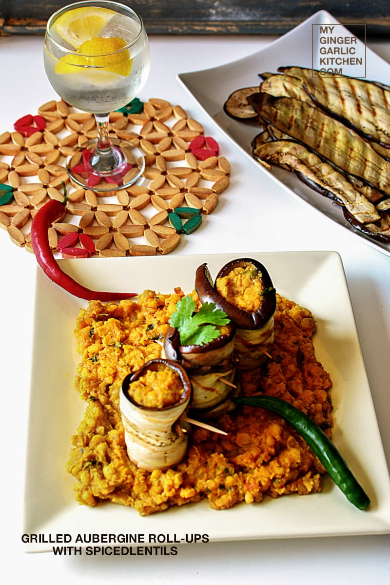 Image - recipe grilled aubergine roll ups anupama paliwal my ginger garlic kitchen 1