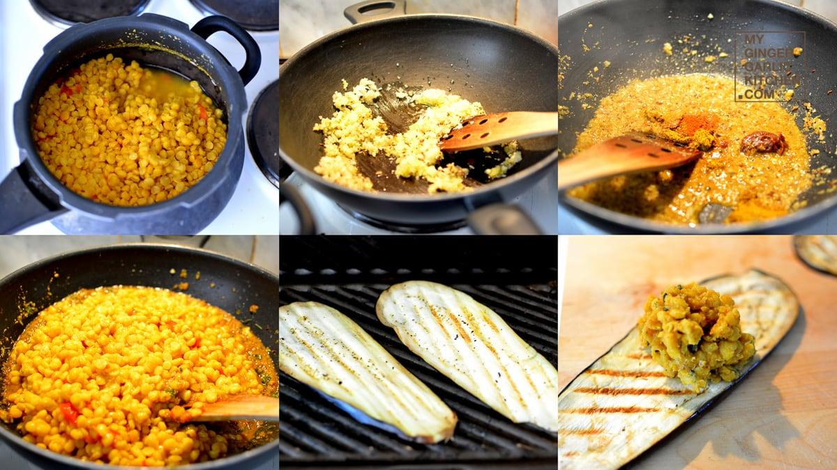Image - recipe grilled aubergine roll ups anupama paliwal my ginger garlic kitchen 10