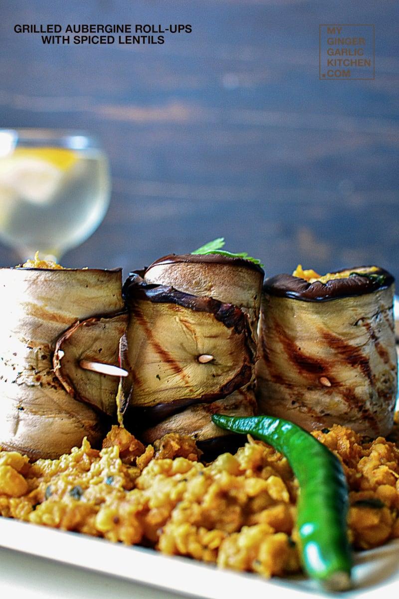 Image - recipe grilled aubergine roll ups anupama paliwal my ginger garlic kitchen 3