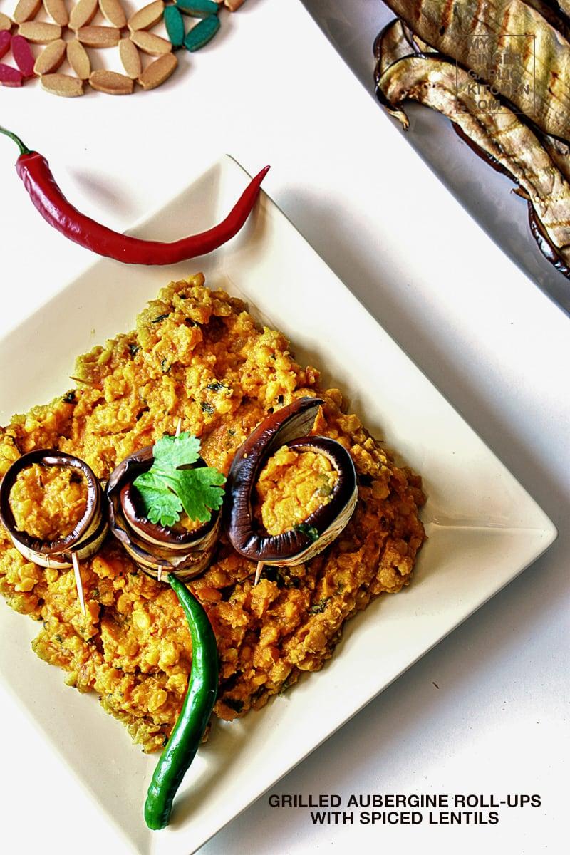 Image - recipe grilled aubergine roll ups anupama paliwal my ginger garlic kitchen 9